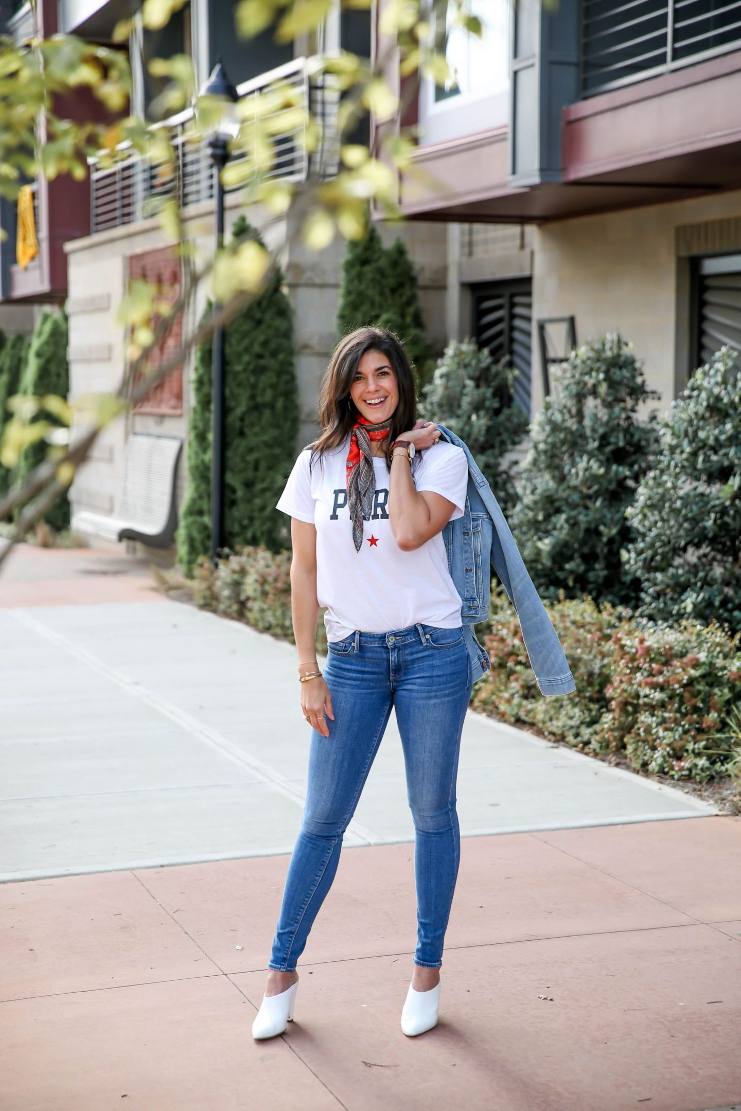 Paris Graphic Tee - Denim Jacket - Lauren Schwaiger Blog