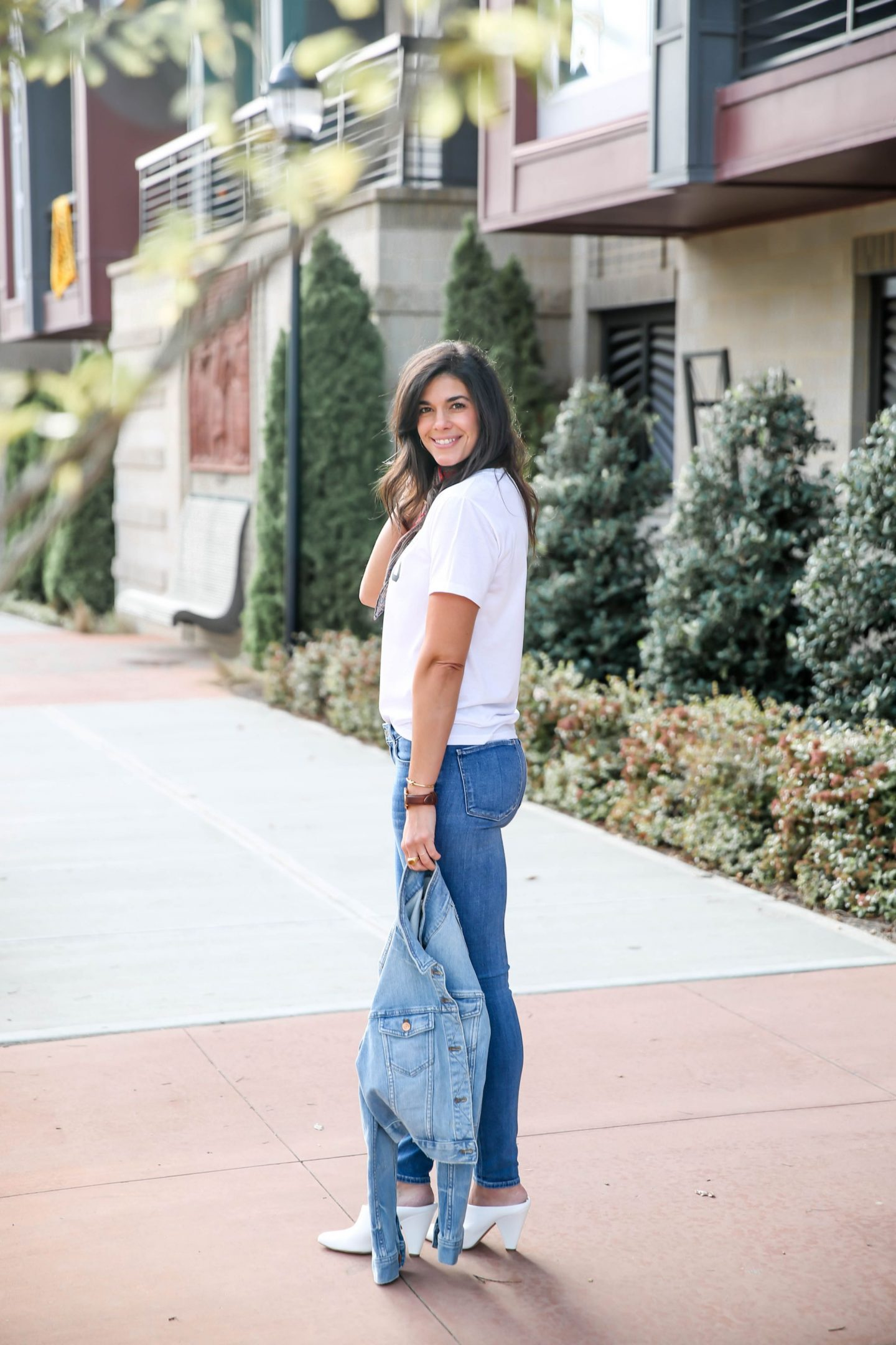 skinny jeans - denim jacket - Lauren Schwaiger Style Blog
