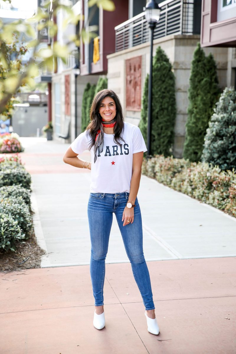 Paris Graphic Tee - Casual Chic Outfit Inspiration - Lauren Schwaiger