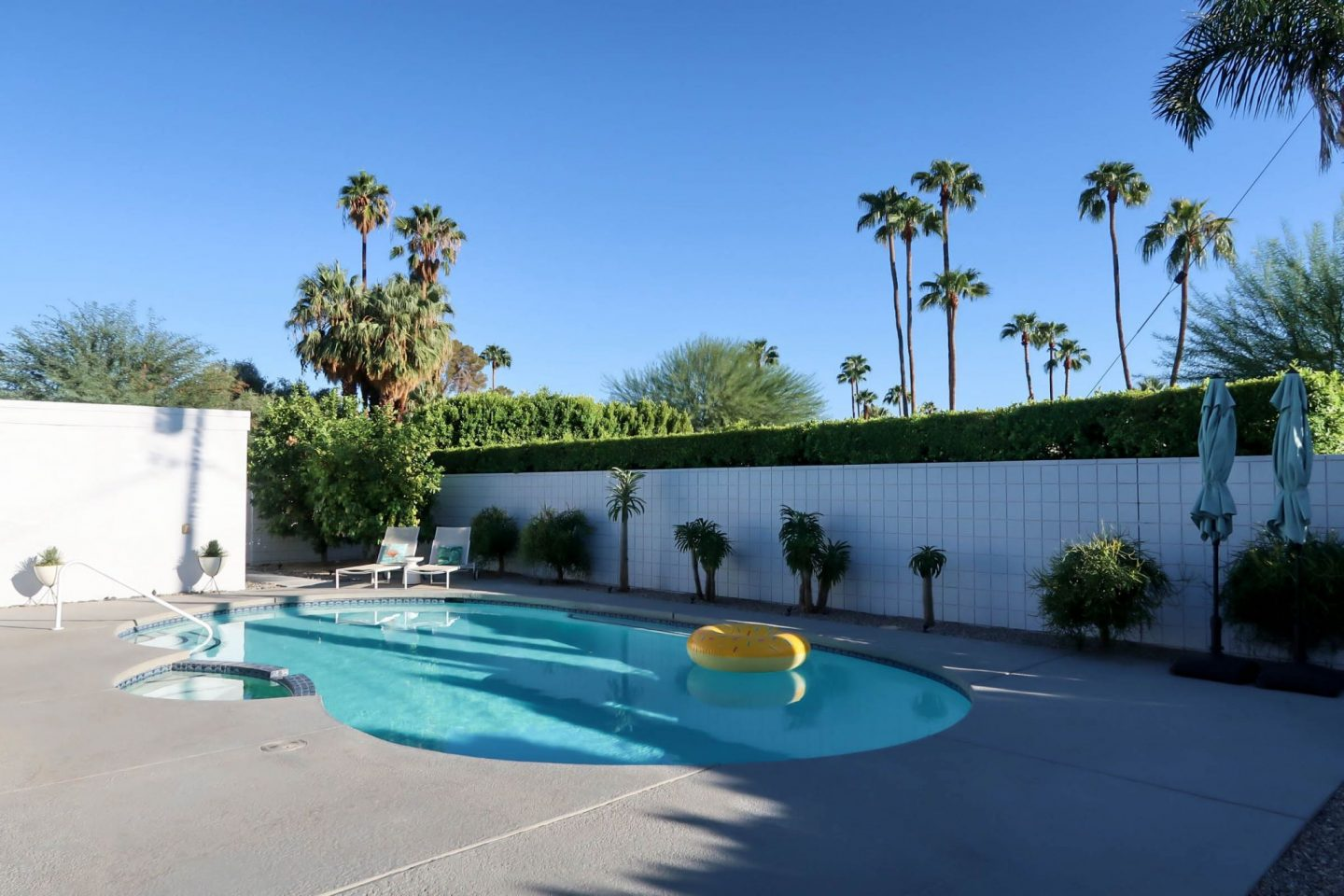 Palm Springs - Modern Home - Backyard Pool - Lauren Schwaiger Travel Blog