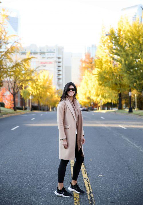 Topshop Camel Coat - Athleisure Style - Lauren Schwaiger Style Blog