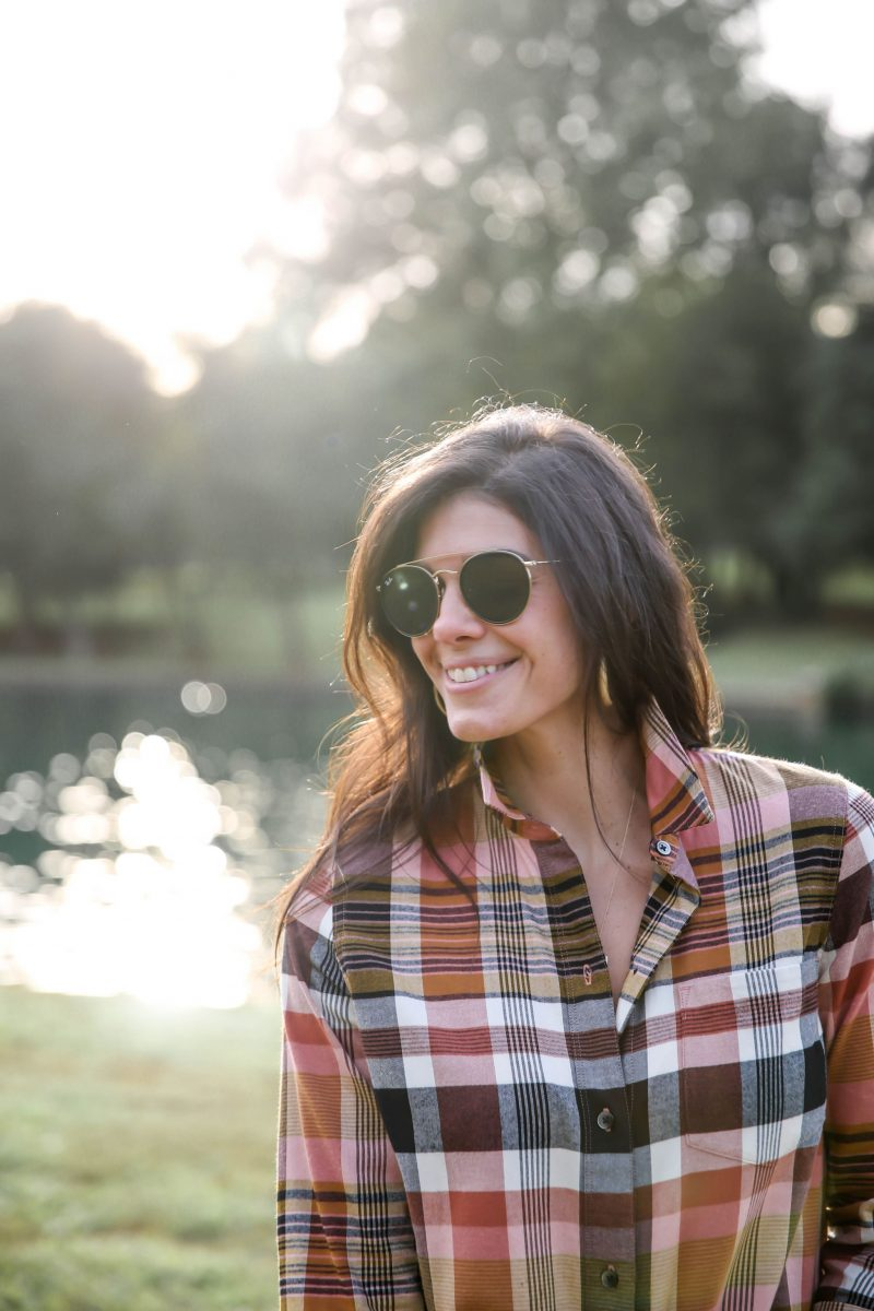 plaid button down - fall colors - Lauren Schwaiger style blog