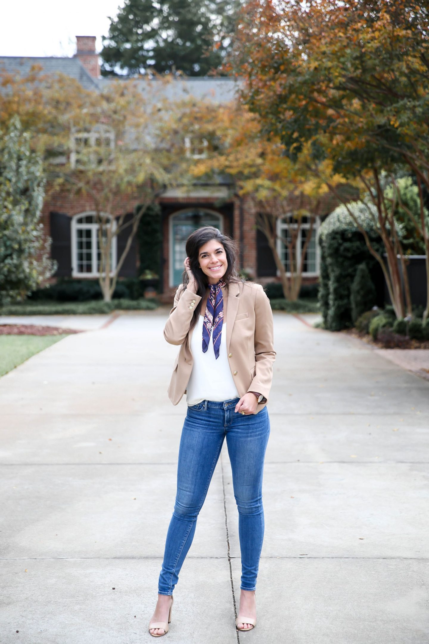 skinny jeans + blazer - business casual outfit inspiration - Lauren Schwaiger Style Blog