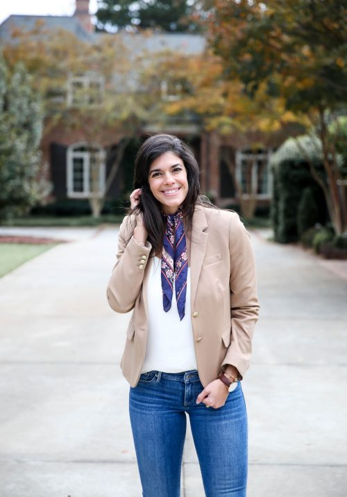 Blazer + Neck Scarf - Business Casual - Lauren Schwaiger Style Blog