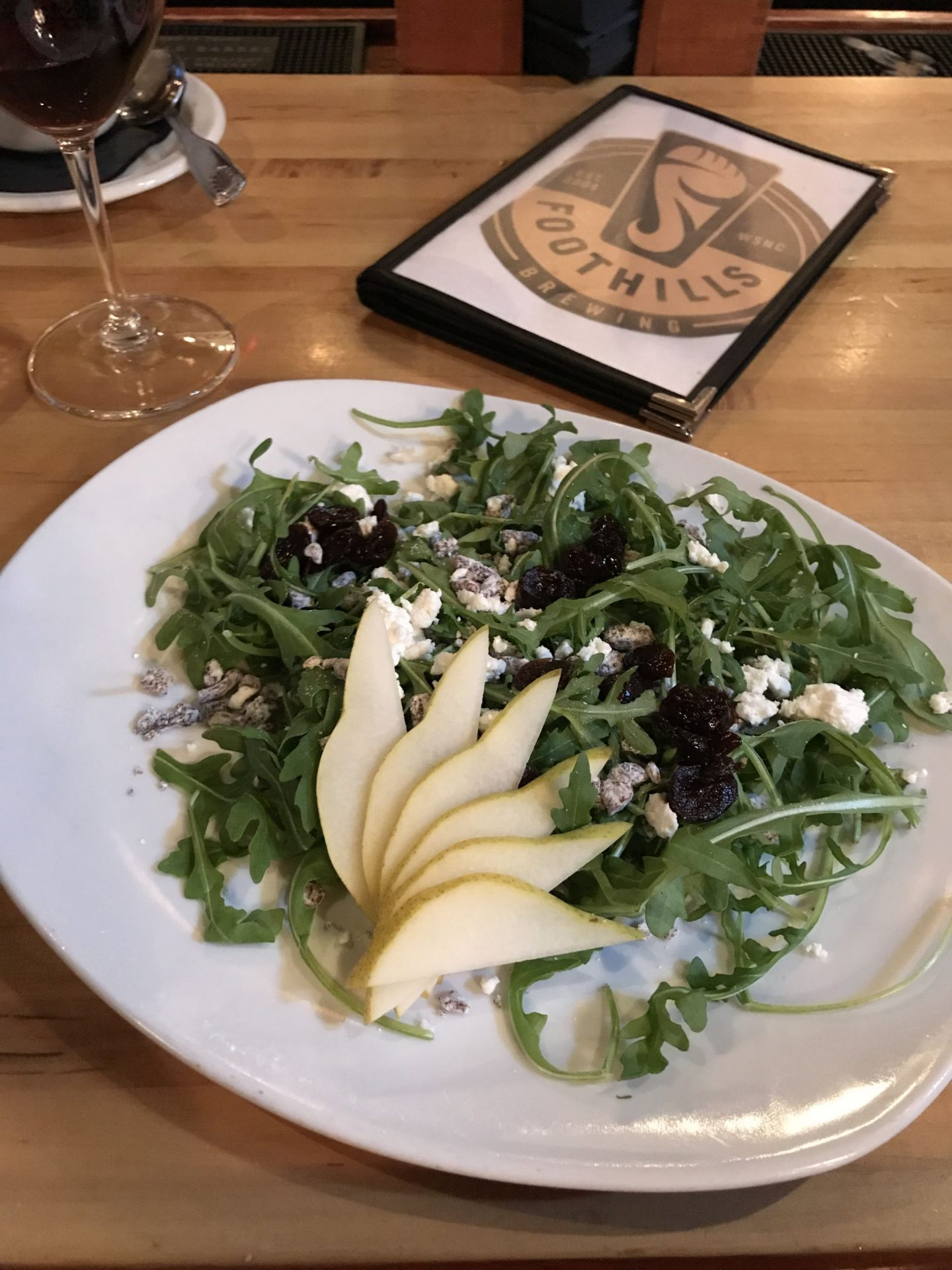 Foothill Brewery- Winston Salem - Pear Salad- Lauren Schwaiger Travel Blog