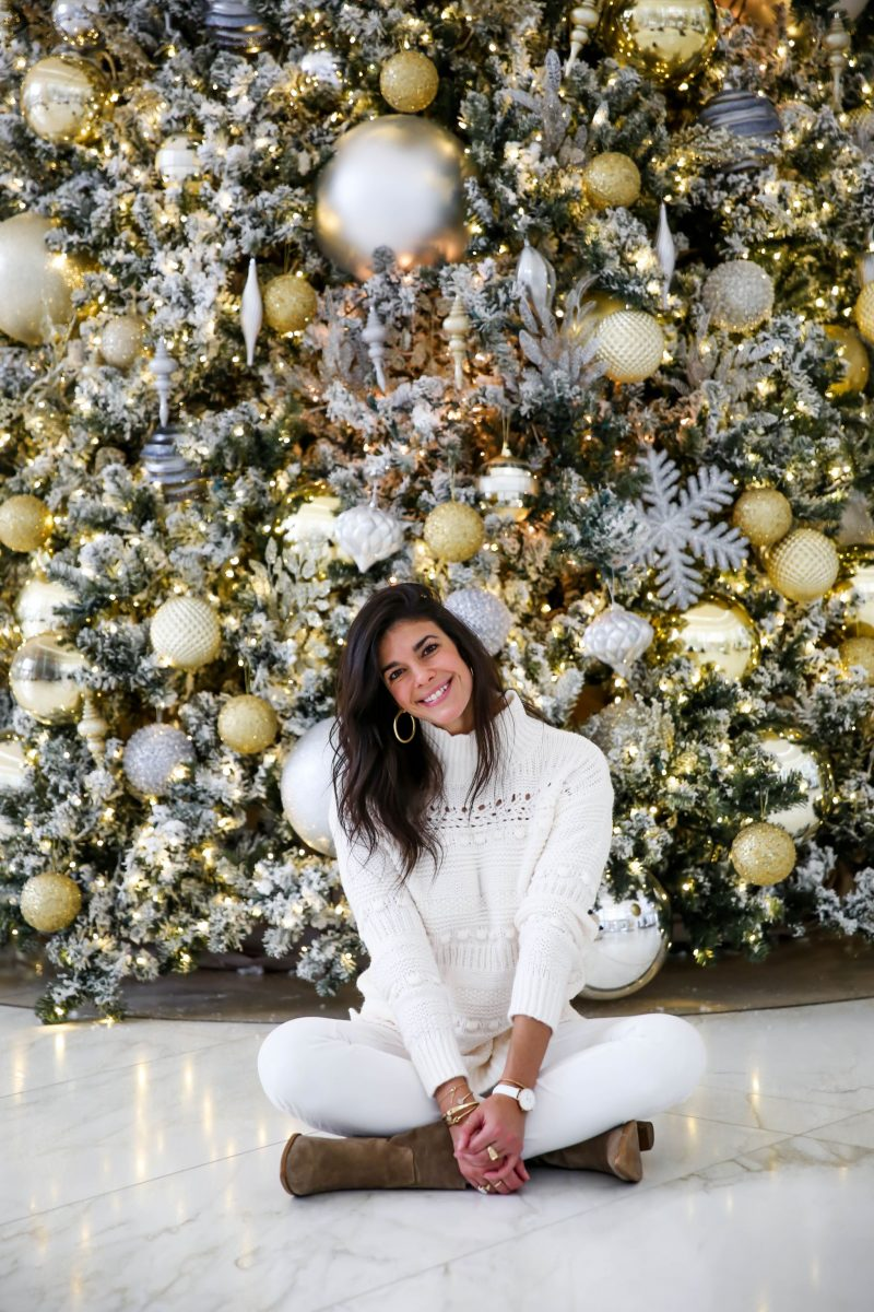 cozy chic winter whites - Lauren Schwaiger style blog