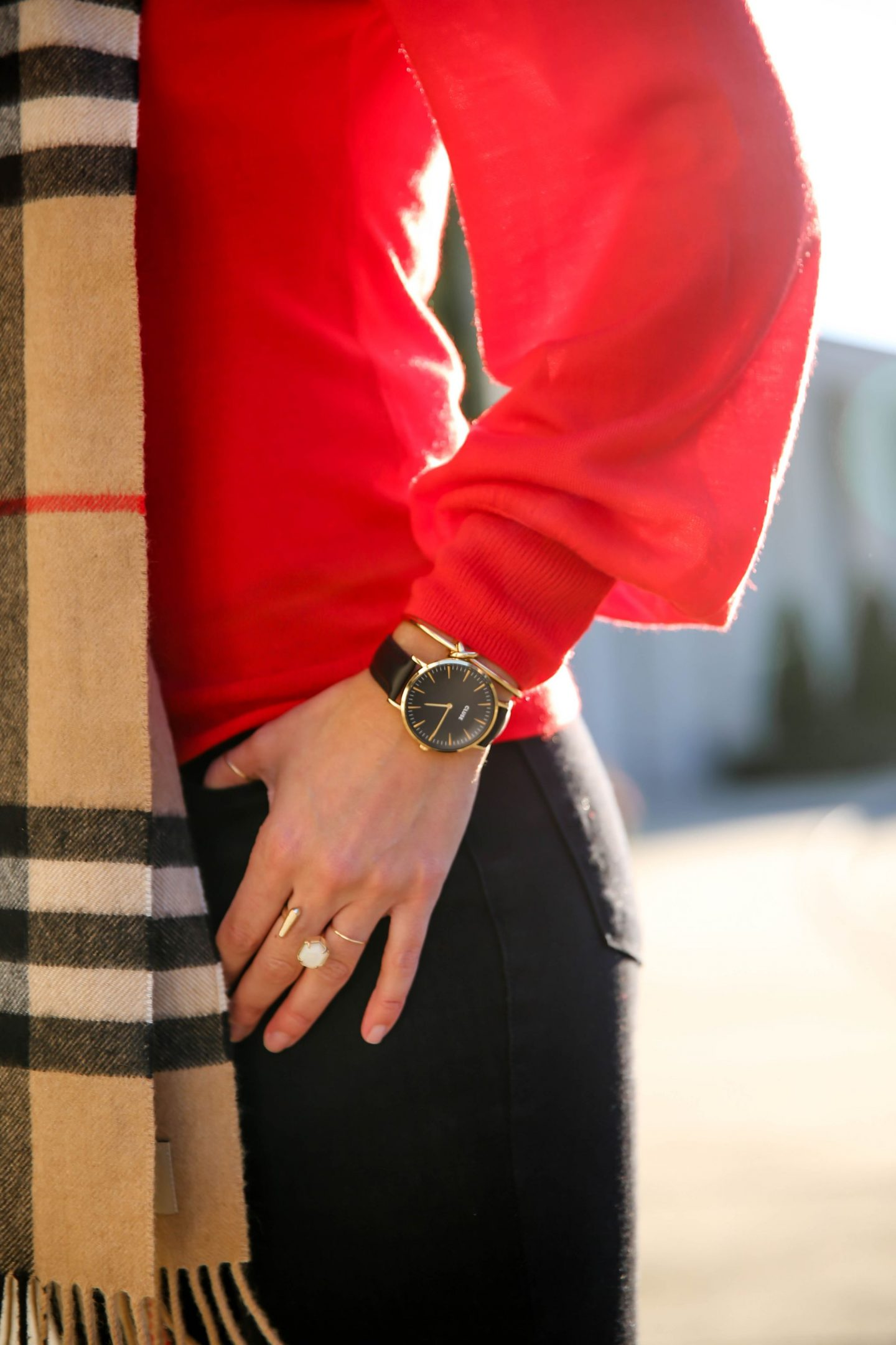 Cluse Watch - Burberry Scarf - Lauren Schwaiger Style Blog
