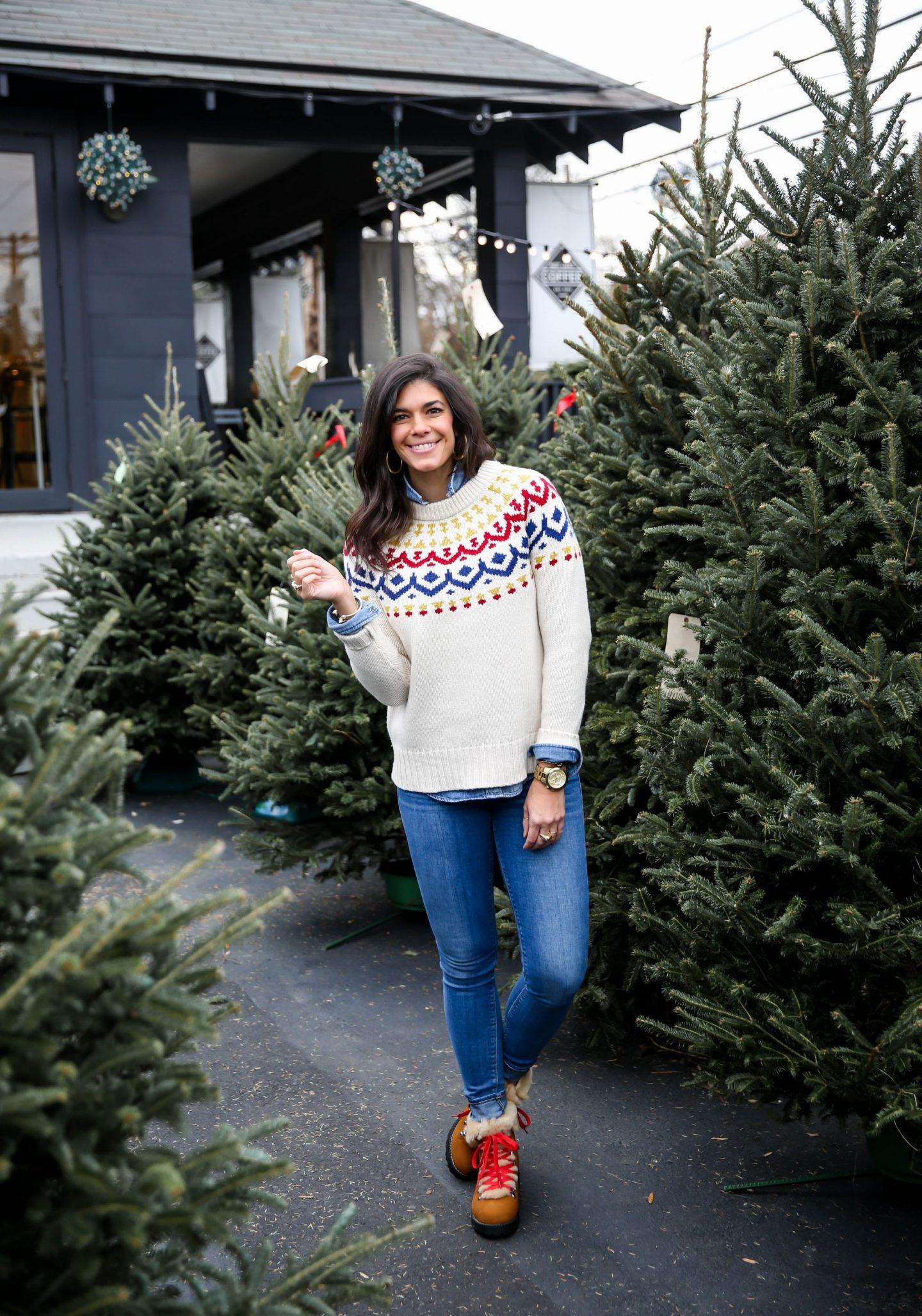 fair isle sweater - winter style - Lauren Schwaiger style blog