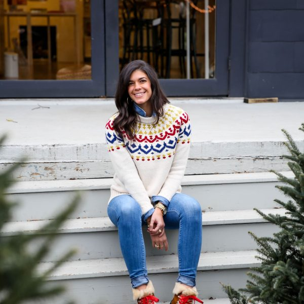 Fair Isle Sweater + The Cutest Winter Boots Ever.