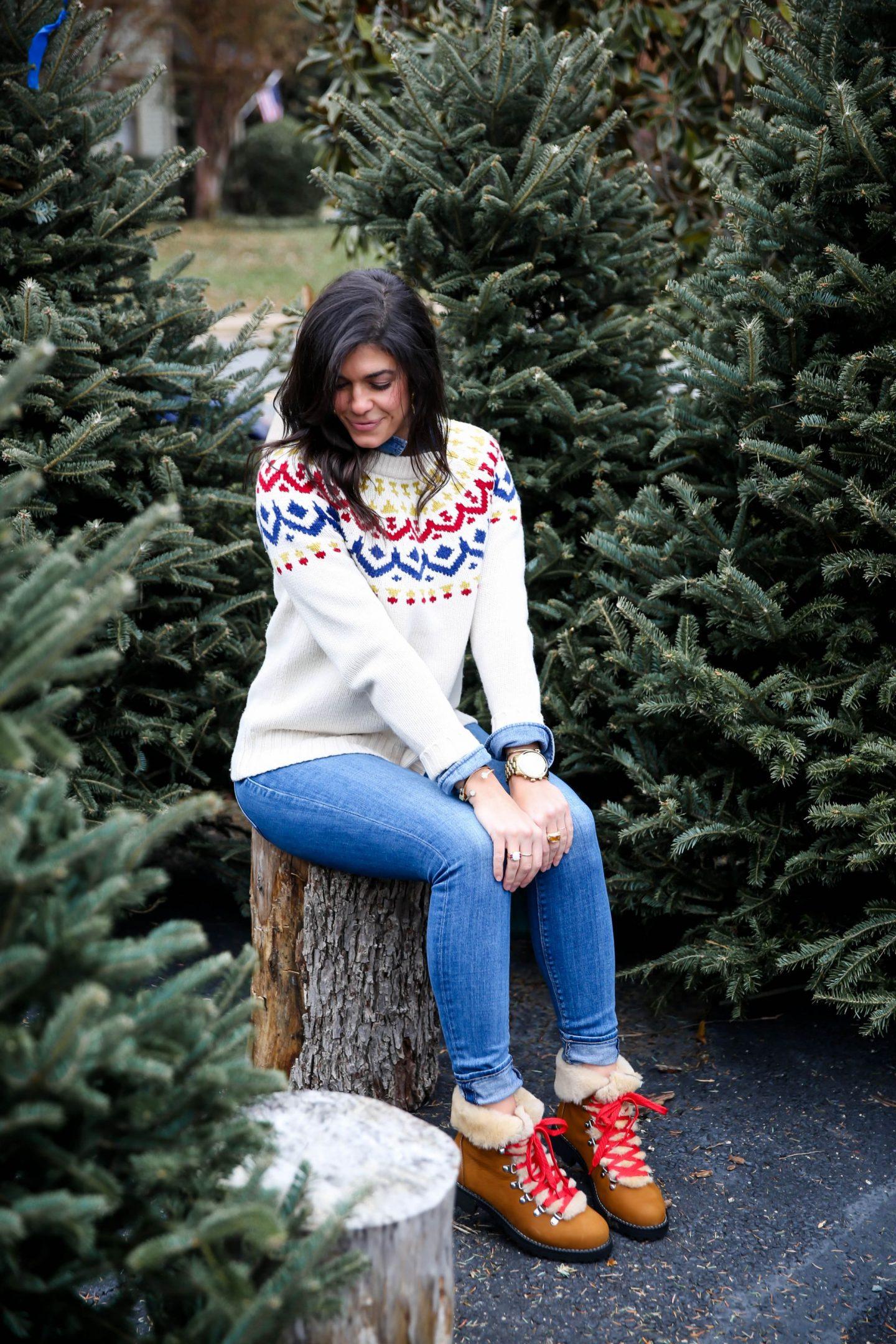 winter outfit inspiration - fair isle sweater - Lauren Schwaiger style blog