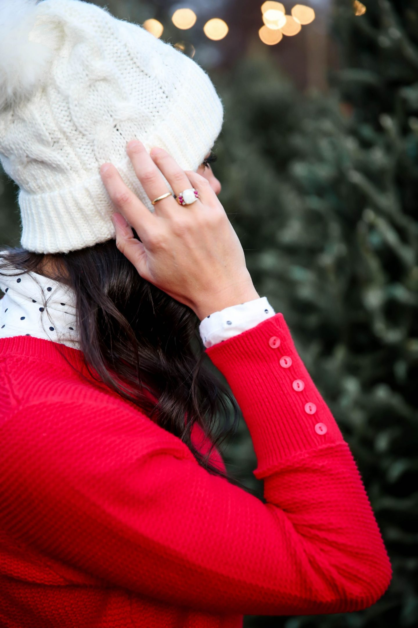 red sweater - LOFT - Lauren Schwaiger Style Blog