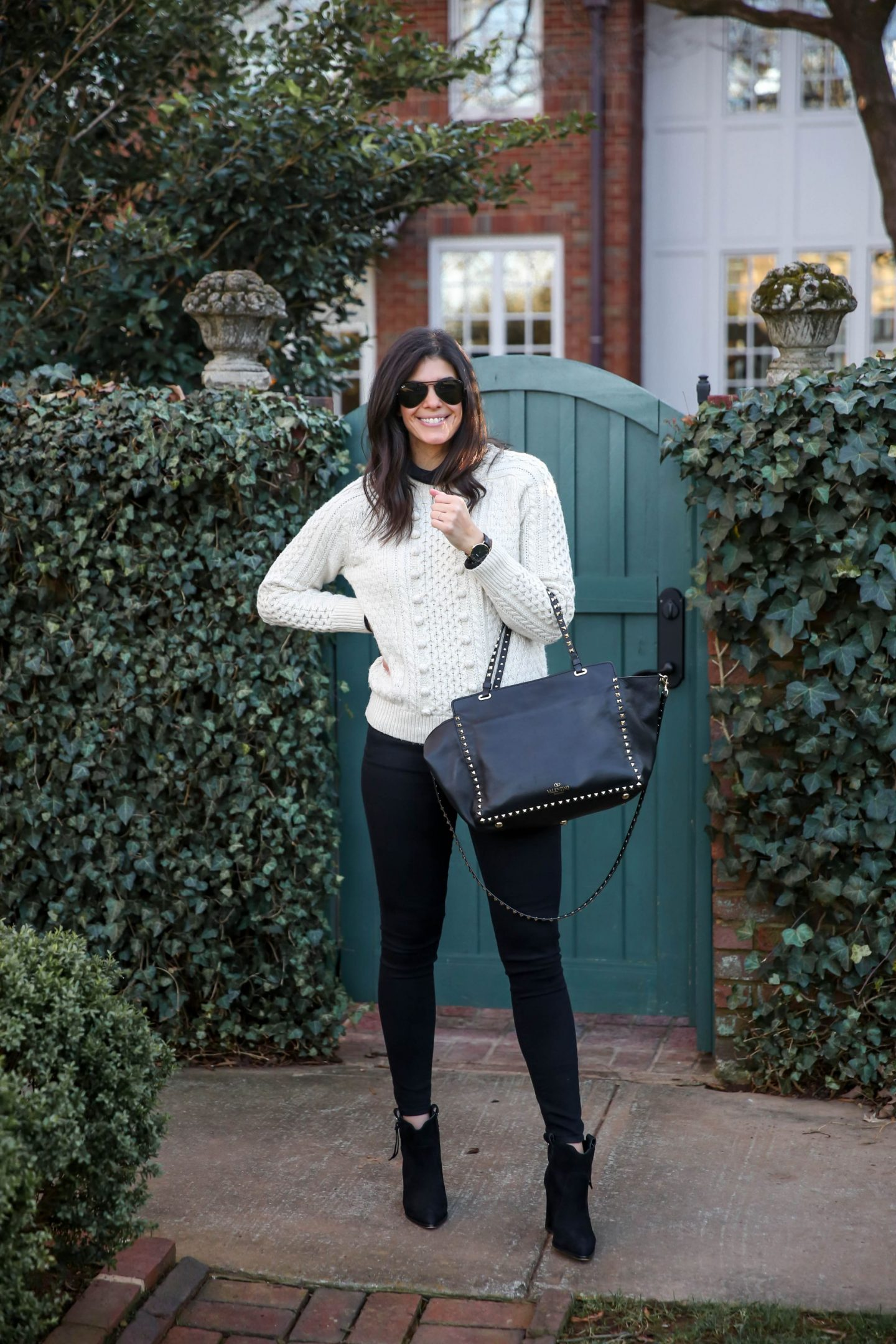 turtleneck + cable knit sweater - Lauren schwaiger style blogger