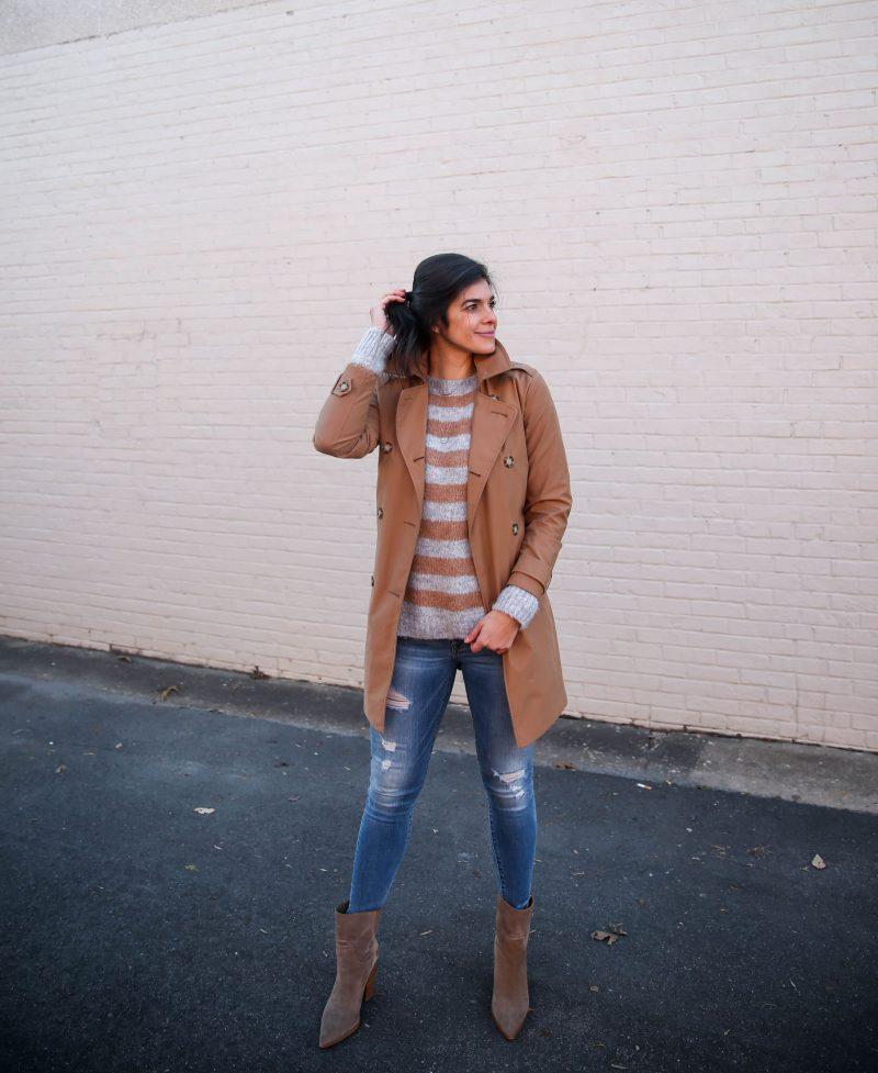 casual chic street style - classic trench coat - Lauren Schwaiger