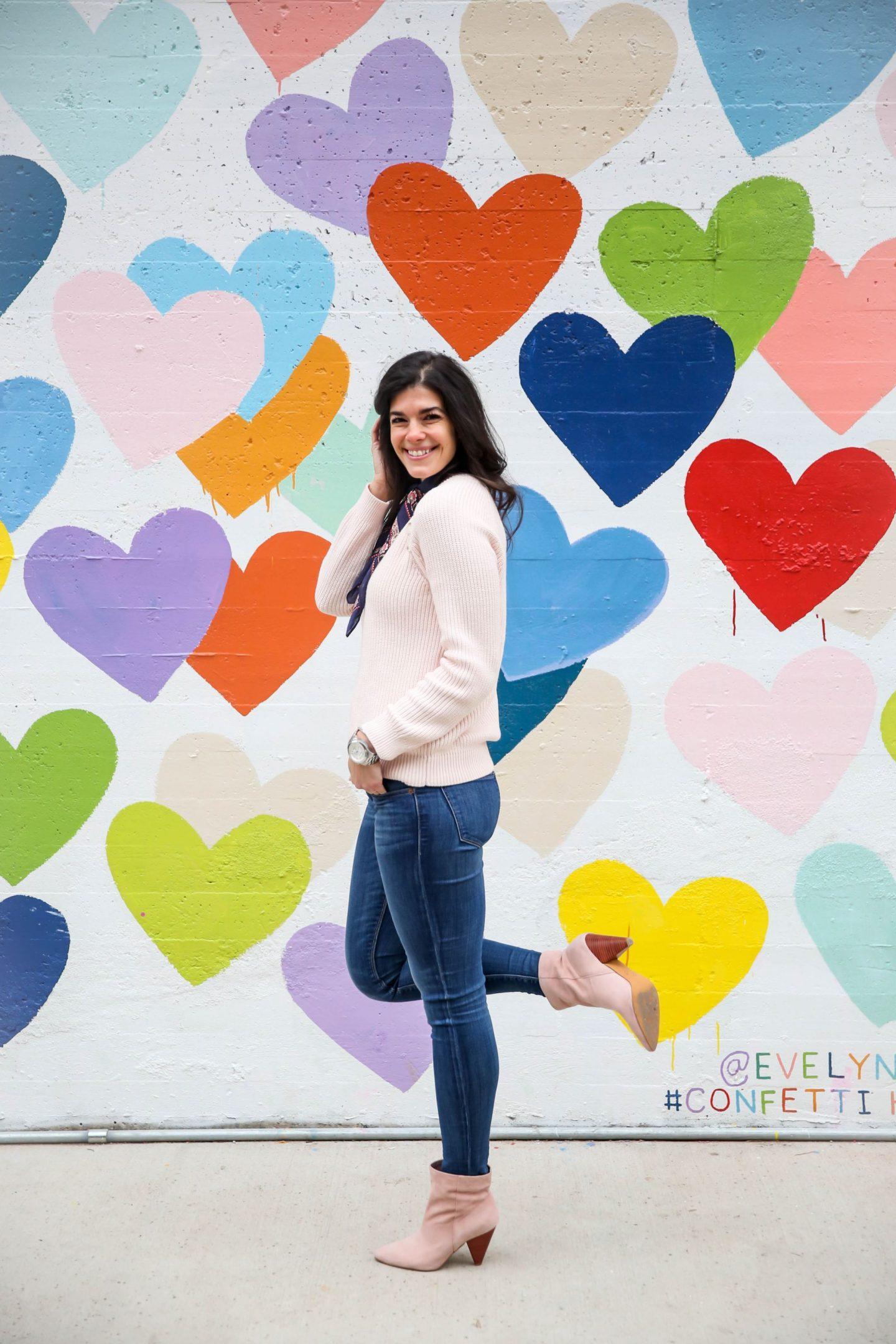 blush sweater - blush booties - spring style inspiration - Lauren Schwaiger
