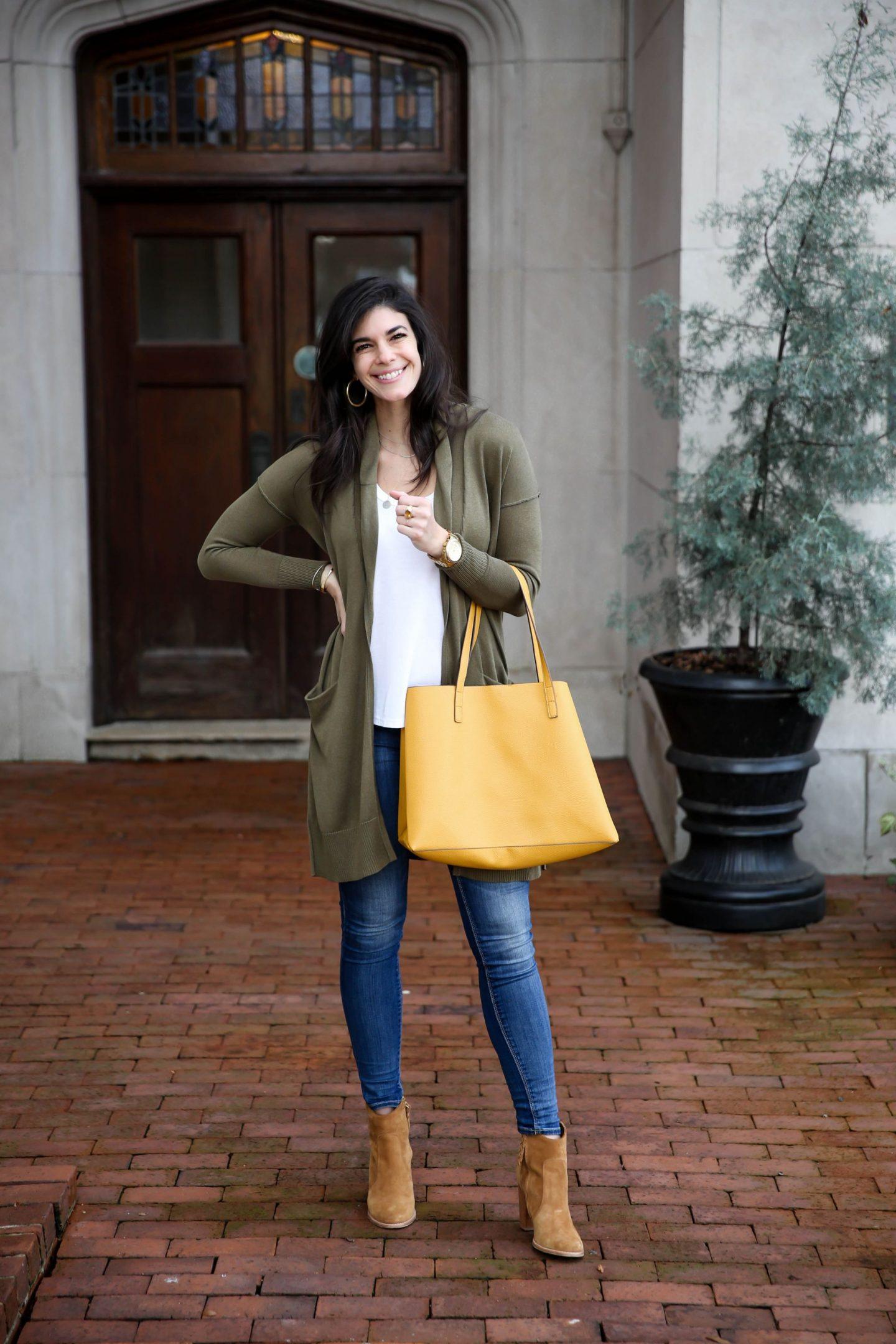 Yellow Tote - Statement Bag - Lauren Schwaiger Style Blog