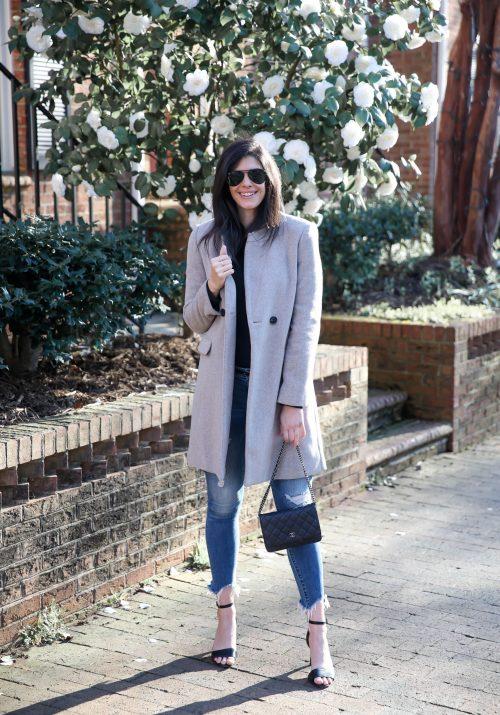 Mango classic wool coat - Lauren Schwaiger Winter Style Inspiration