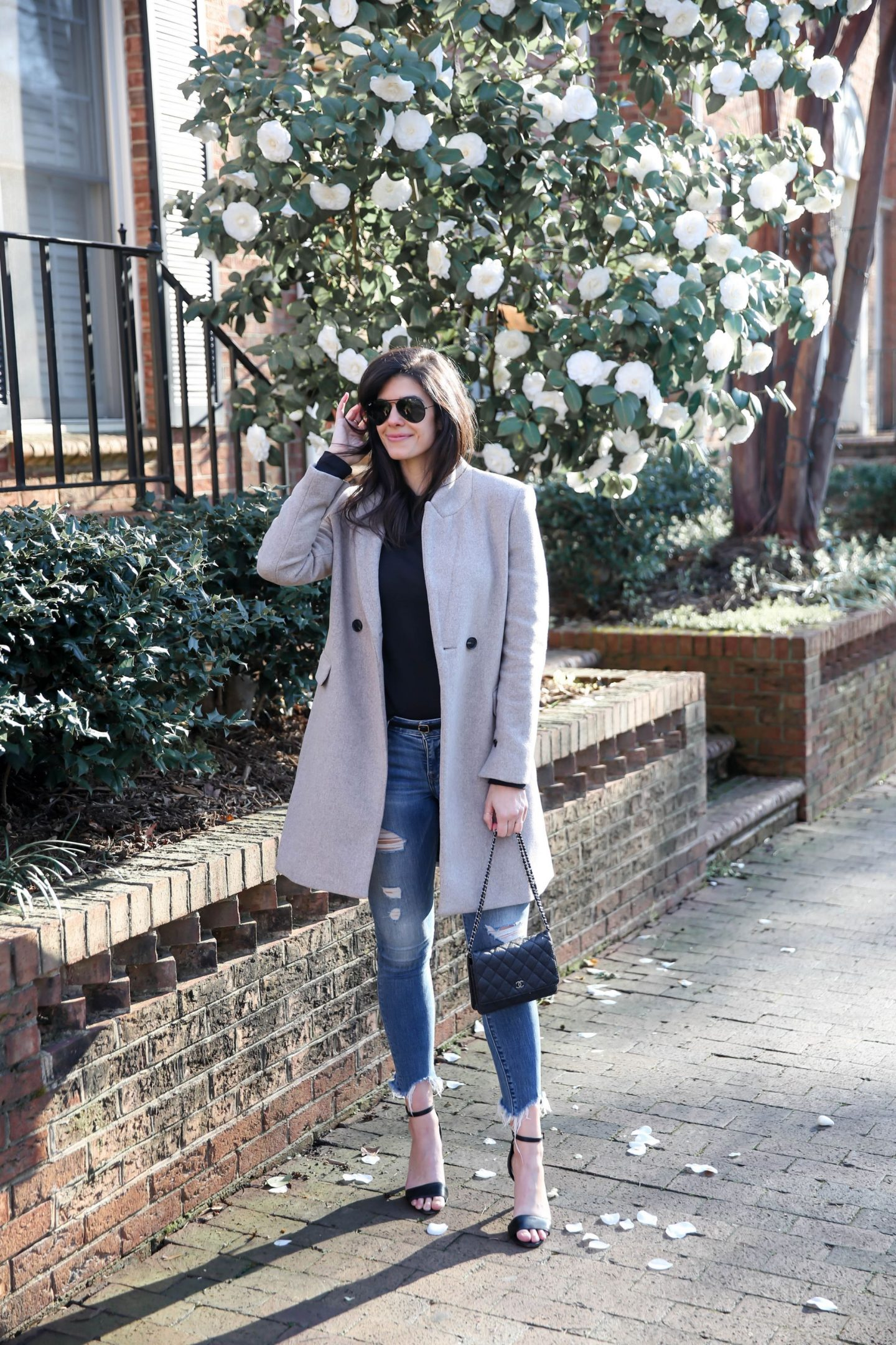 casual chic winter style - mango wool coat - Lauren Schwaiger