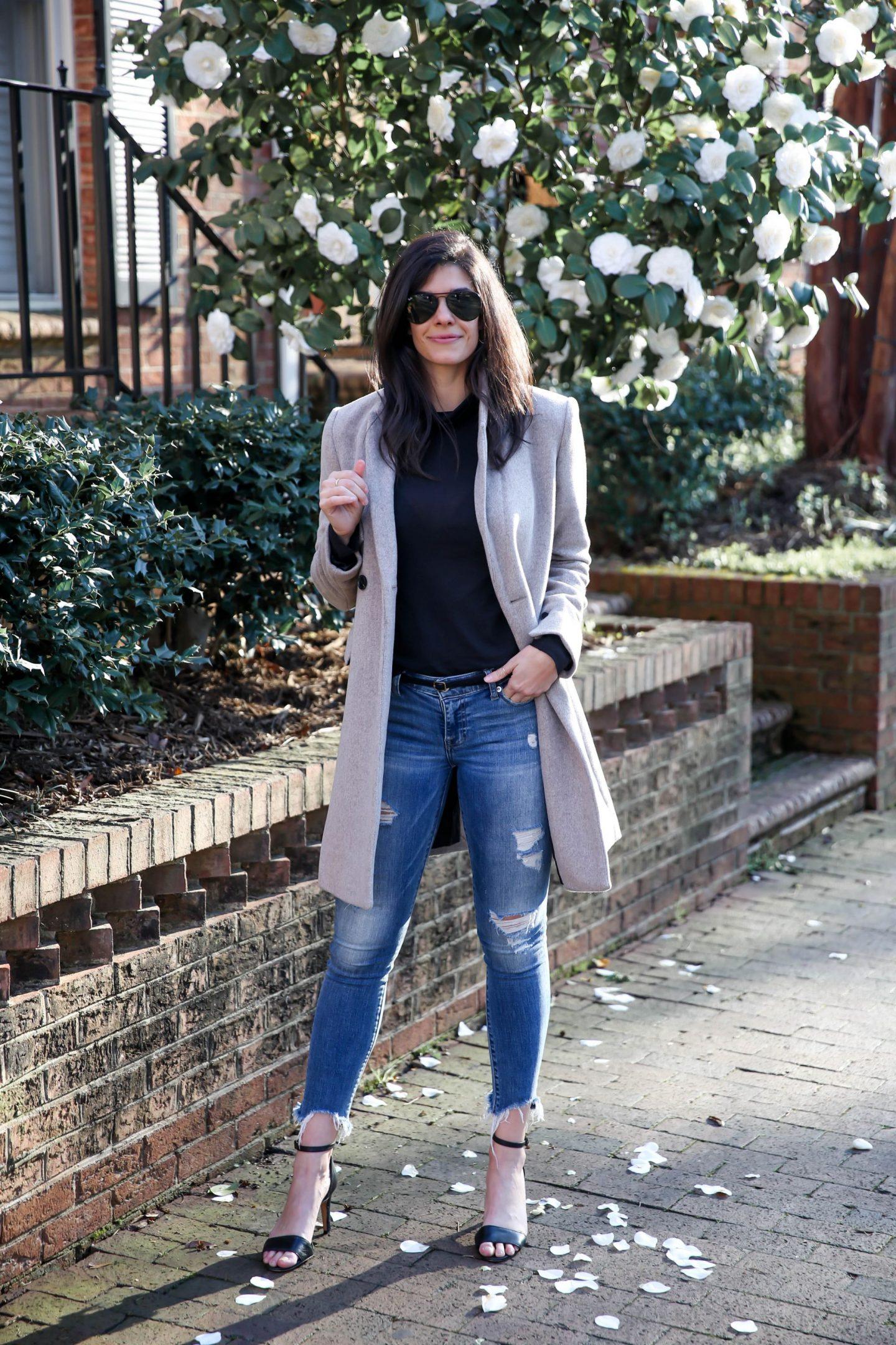 classic wool winter coat - Lauren Schwaiger style blog