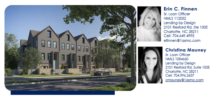 Plaza Row Townhomes - Preferred Lender - Lending By Design - Charlotte NC