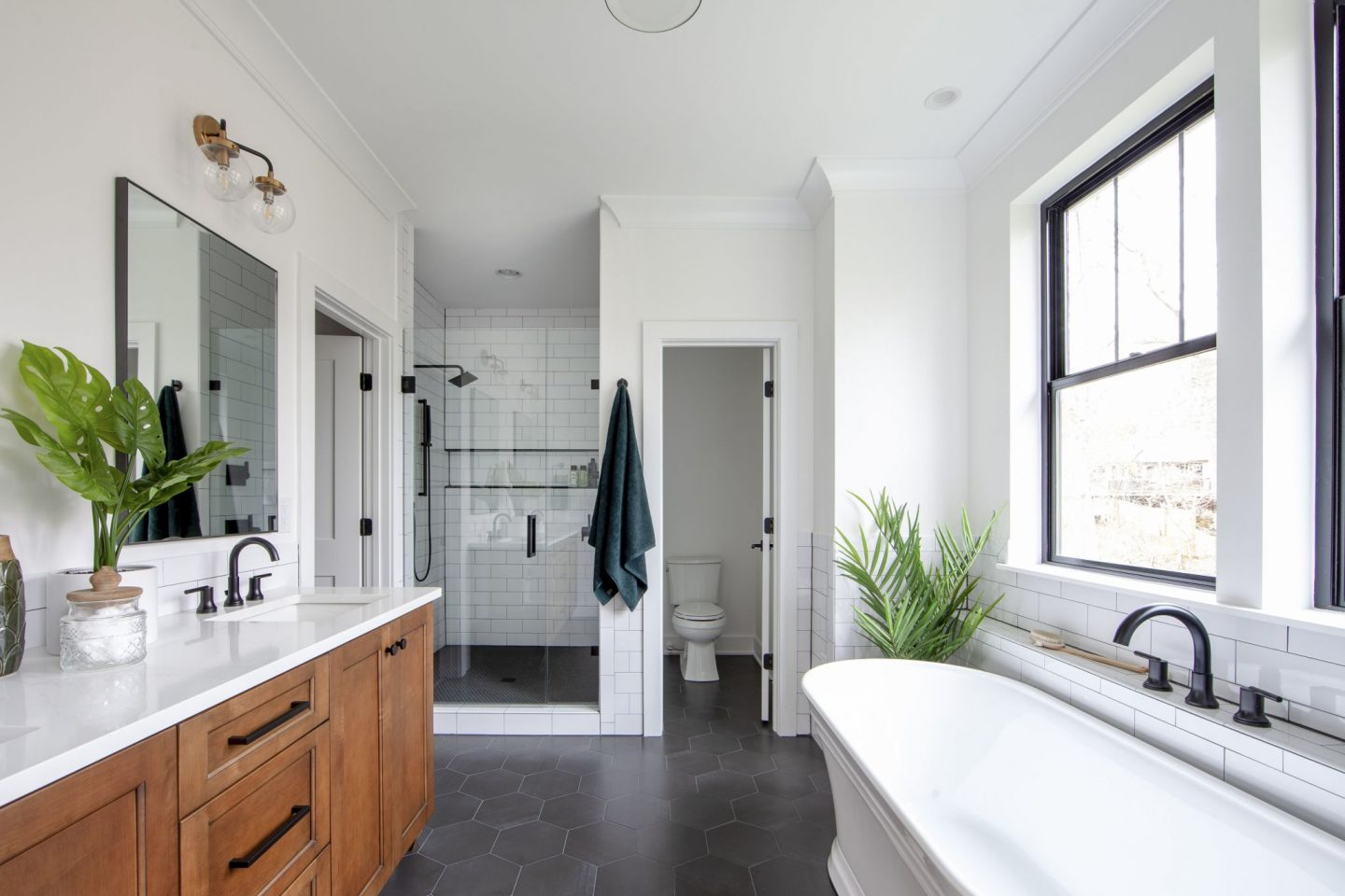 luxury master bathroom - modern farmhouse - Chelsea building group - Schwaiger Realty Group - Charlotte, NC Real Estate