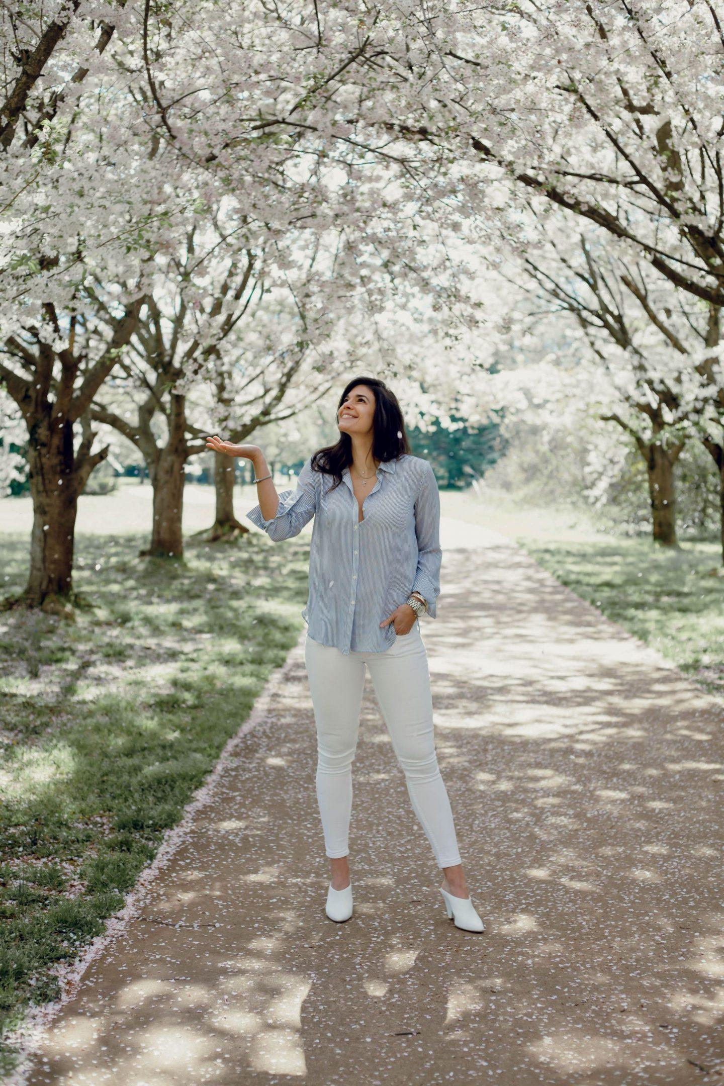 cherry blossoms - spring style - Lauren Schwaiger Lifestyle Blogger