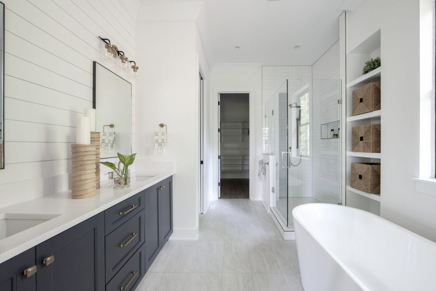 luxury master bathroom - modern home -  Schwaiger realty group