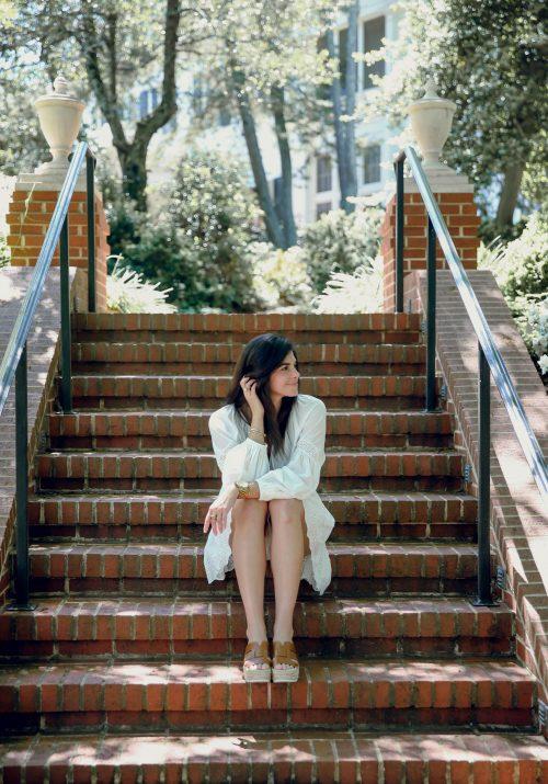 white dress - espadrille wedges - Lauren Schwaiger