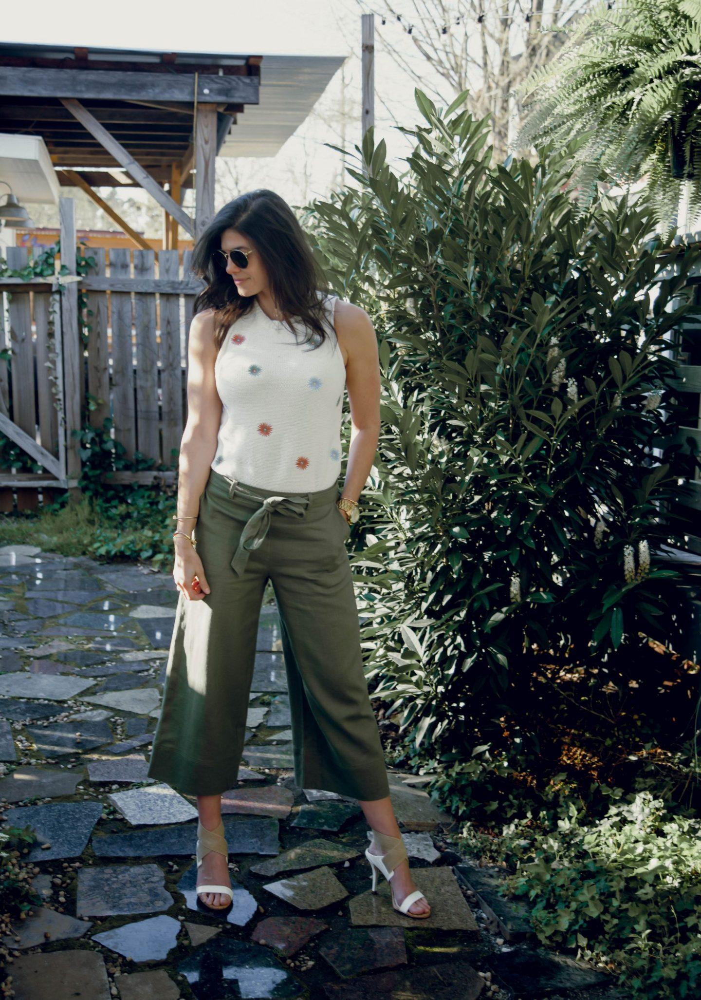 culottes - knit tank - casual chic summer style - Lauren Schwaiger