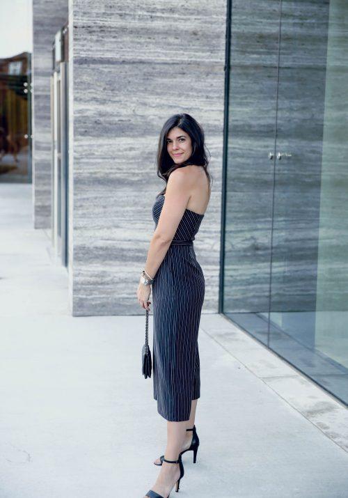 black and white stripe jumpsuit - Lauren Schwaiger style blog