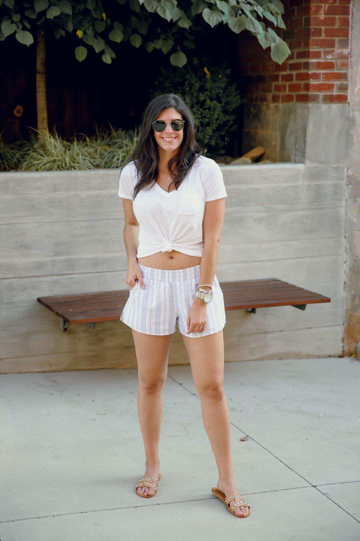 summer style inspiration - striped shorts - Lauren Schwaiger