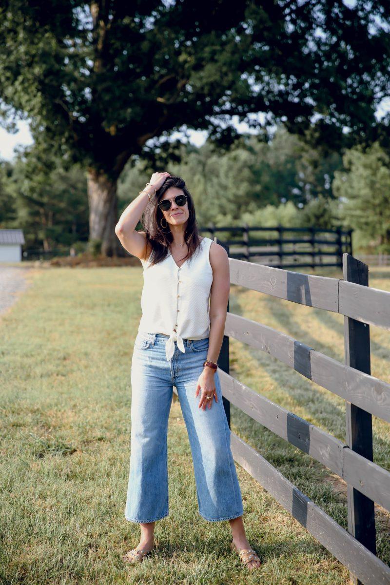 wide leg jeans - citizens of humanity - Lauren Schwaiger style blog