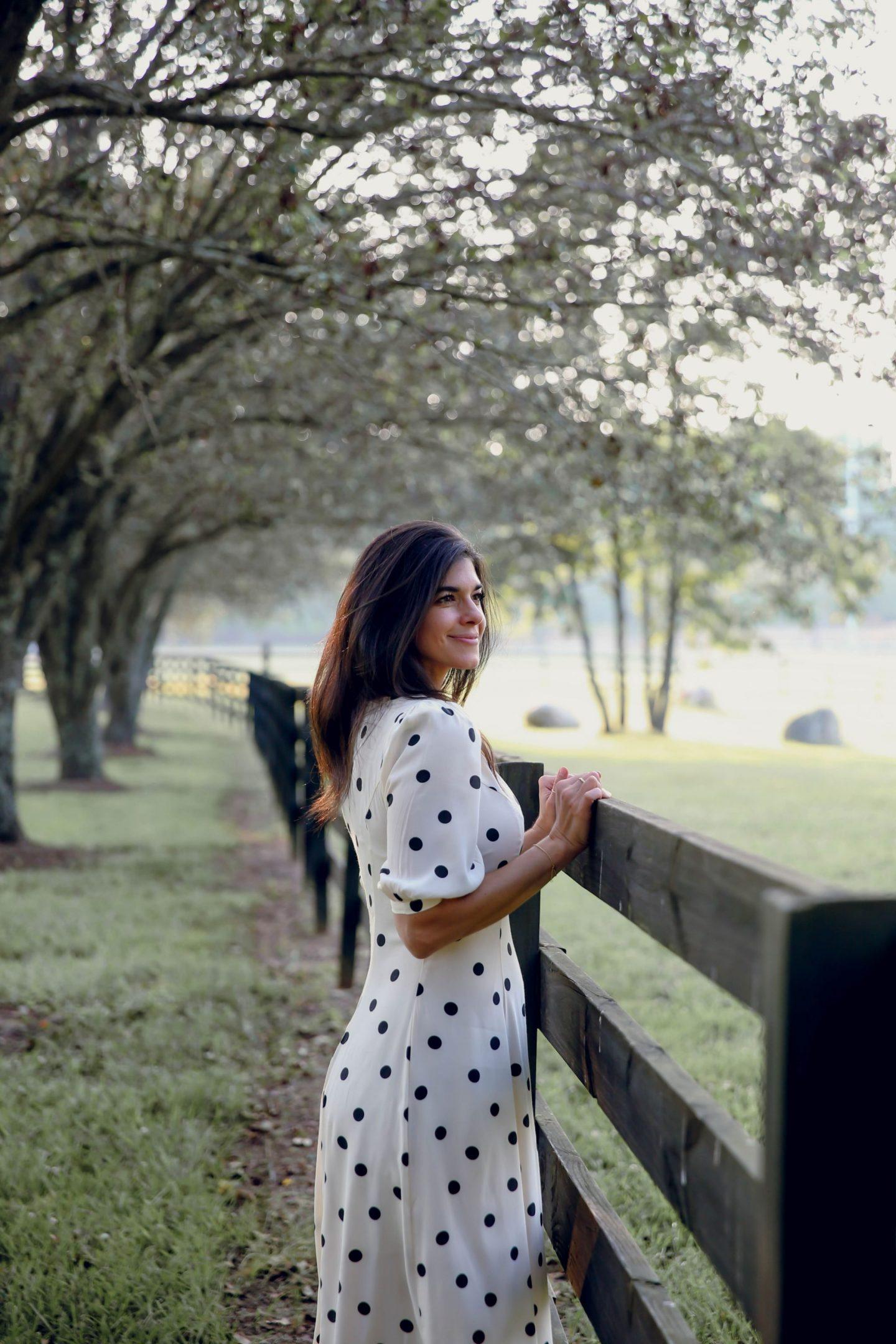 countryside - polka dot dress  - Lauren Schwaiger