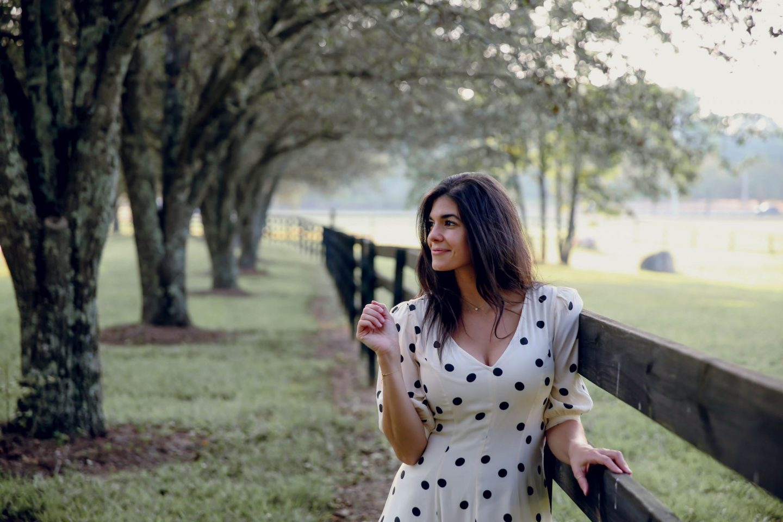 Lauren Schwaiger - Style Blog - White & Navy Polka Dot Dress