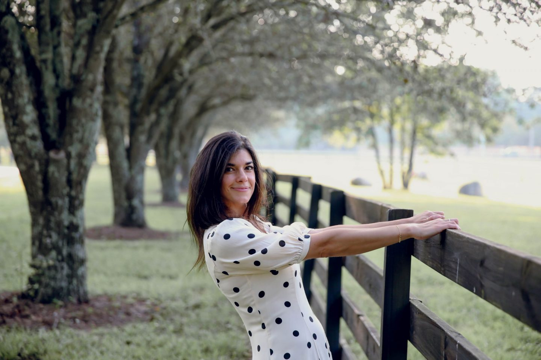 polka dot dress - Lauren Schwaiger - summer style