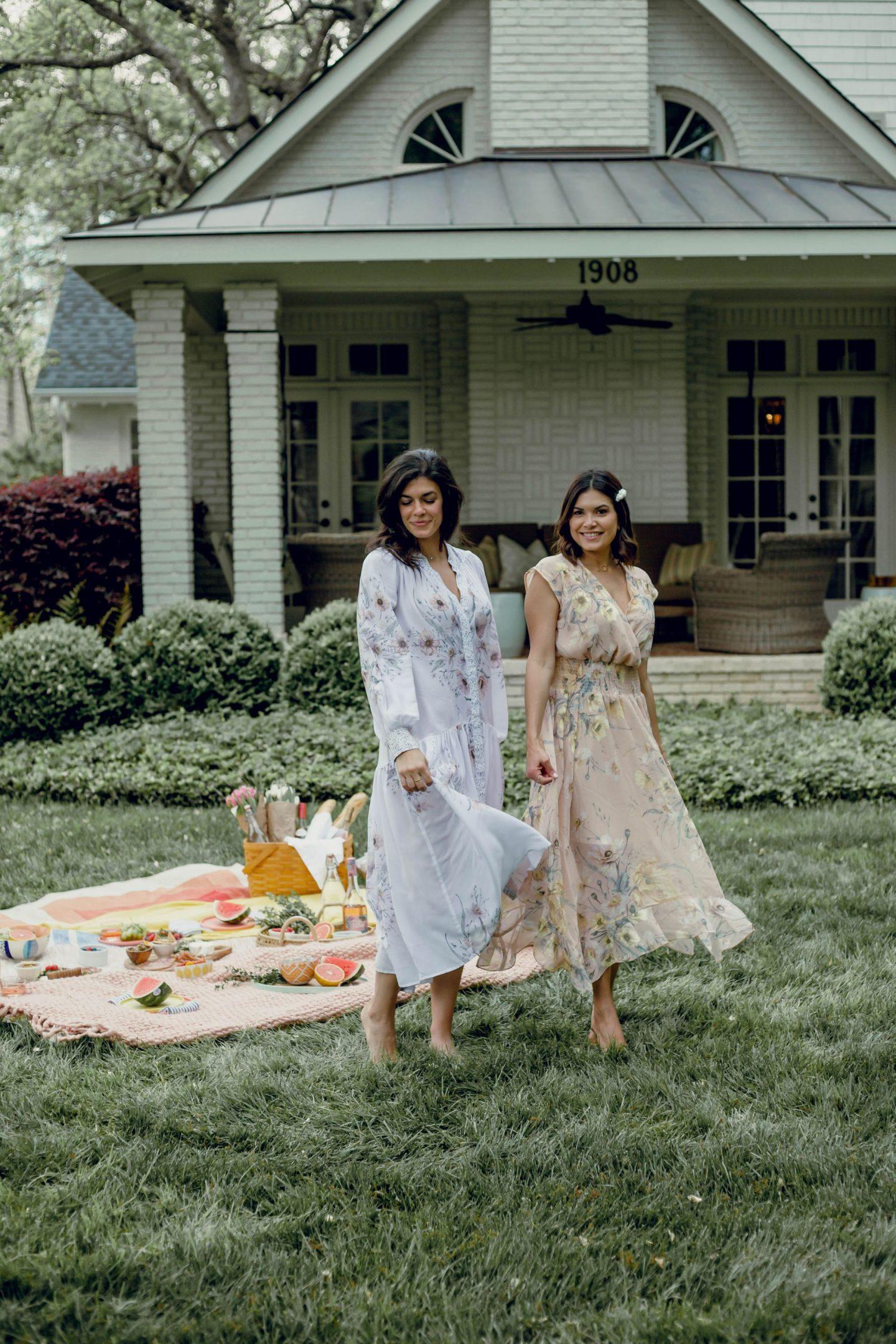 Lauren Schwaiger, Anna De Leon - Charlotte Influencers - HM Dresses - Boho Chic Style