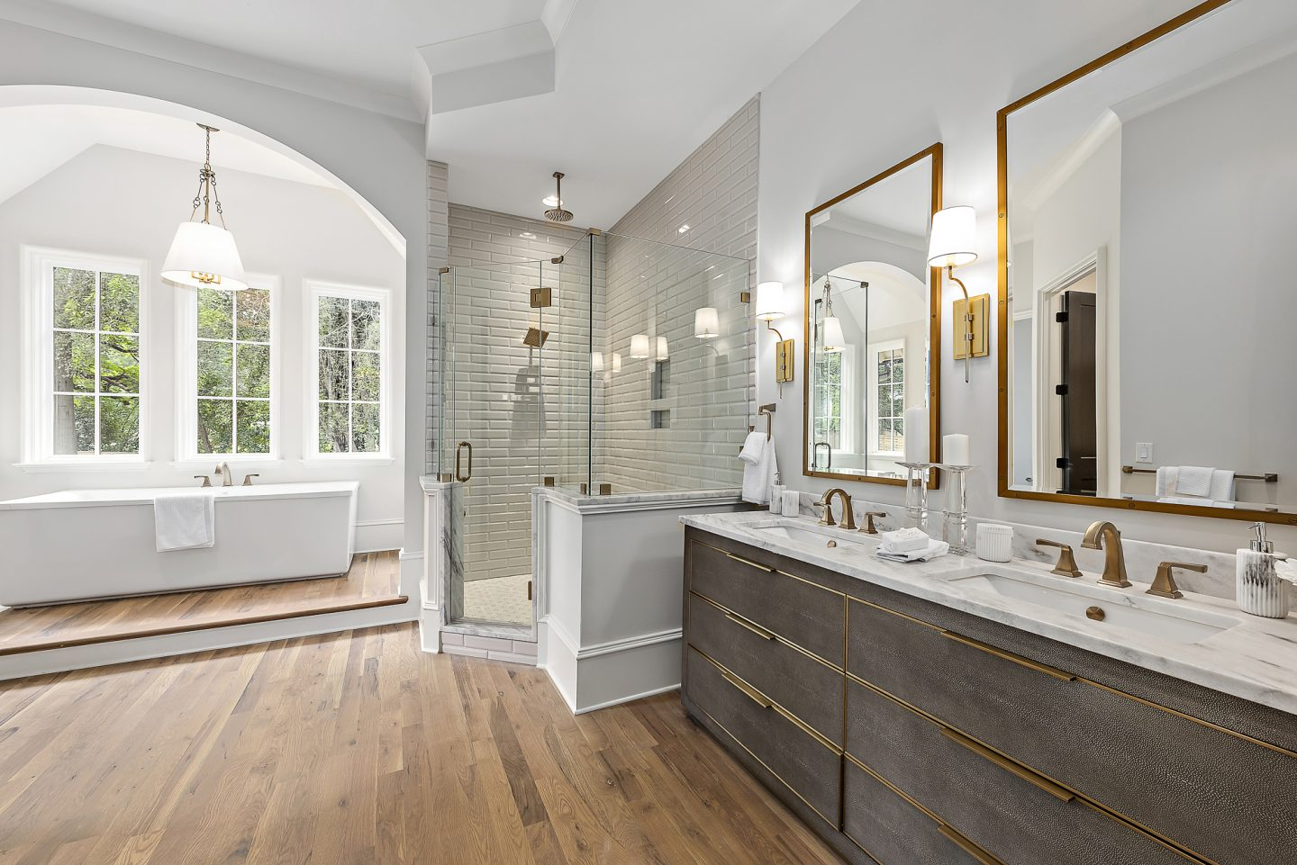 luxury master bathroom - Pike Properties - Charlotte, NC - Luxury Home Builder