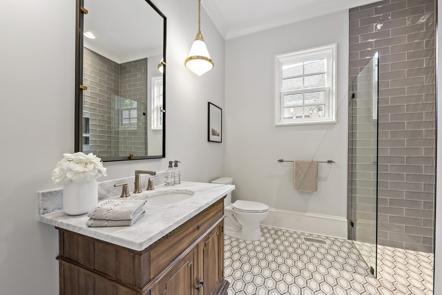 luxury modern farmhouse bathroom - Pike Properties, Charlotte, NC