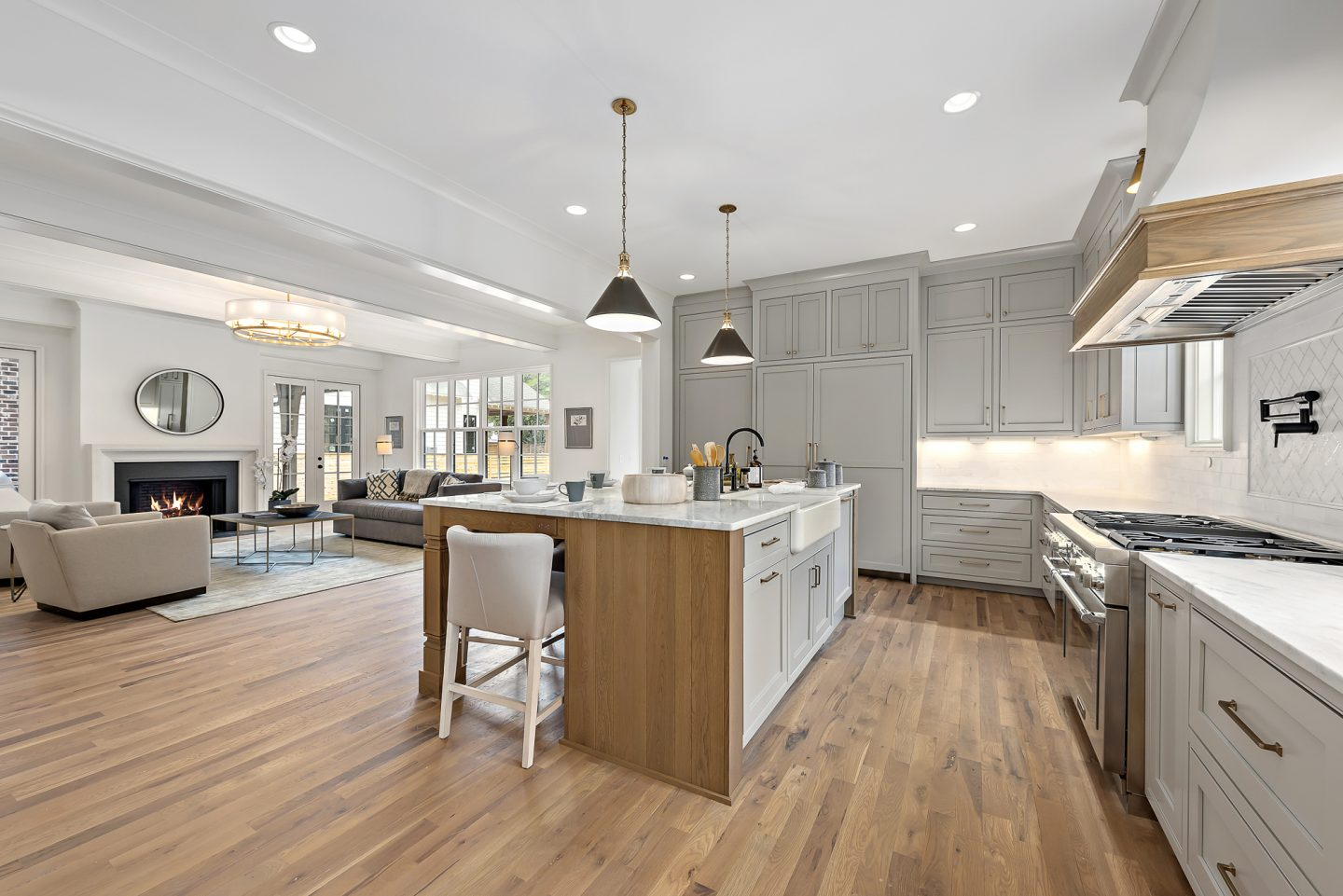 Luxury Modern Farmhouse Kitchen - Pike Properties - Charlotte, NC