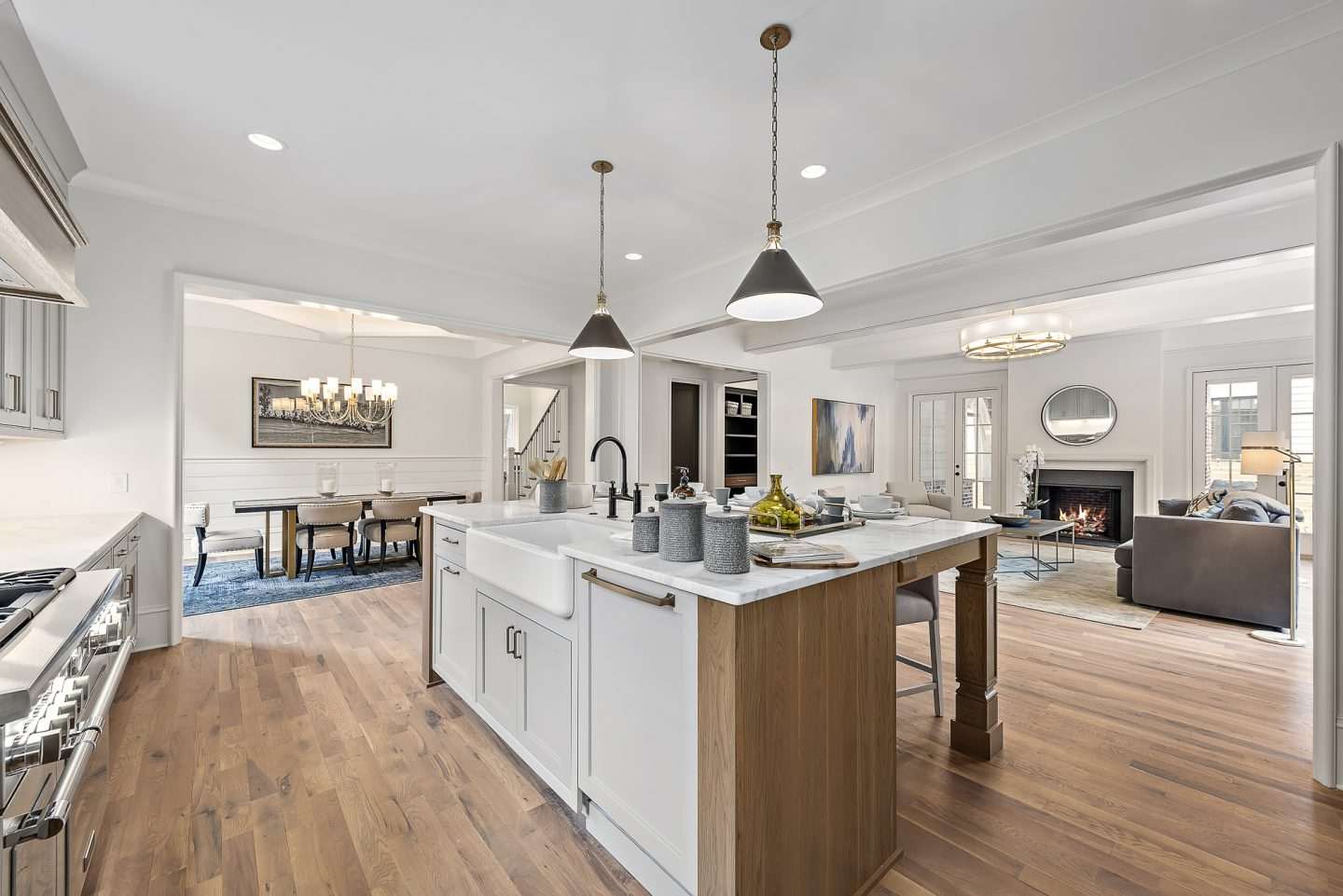 Luxury Farmhouse Kitchen - Pike Properties - Charlotte, NC - Schwaiger Realty Group