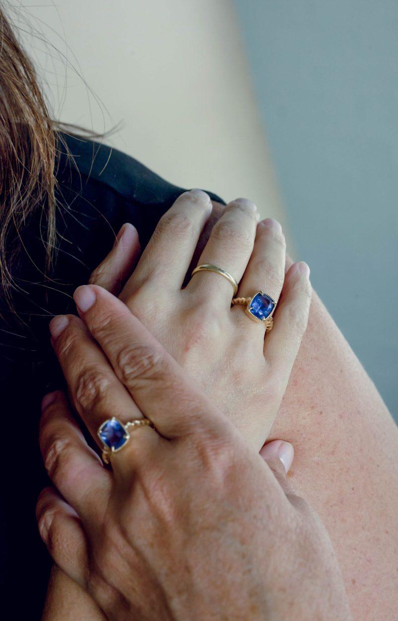 custom rings - tanzanite ring - The Antiquarian - Lauren Schwaiger Lifestyle Blog