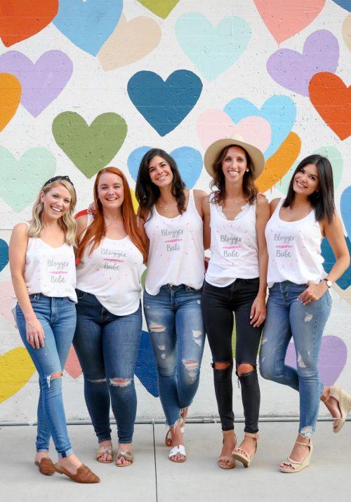 Charlotte, NC - Confetti Hearts Wall - Charlotte Bloggers