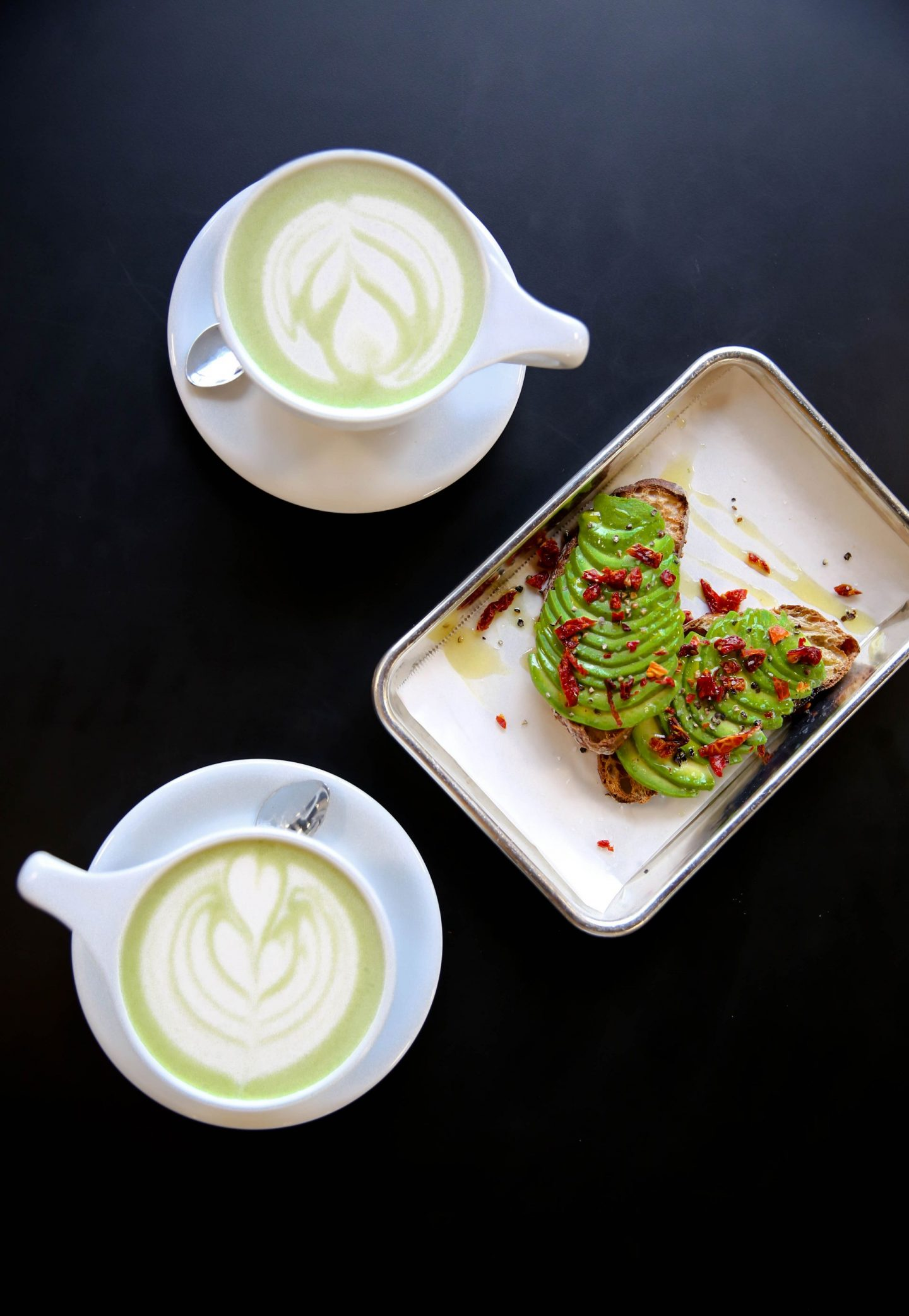 matcha latte - avocado toast - not just coffee - Charlotte, NC - Lauren Schwaiger Lifestyle Blog