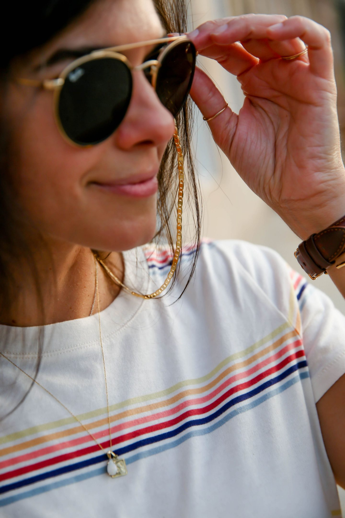 Jenny Bird - Gold Eyewear Chain - Lauren Schwaiger Style Blog