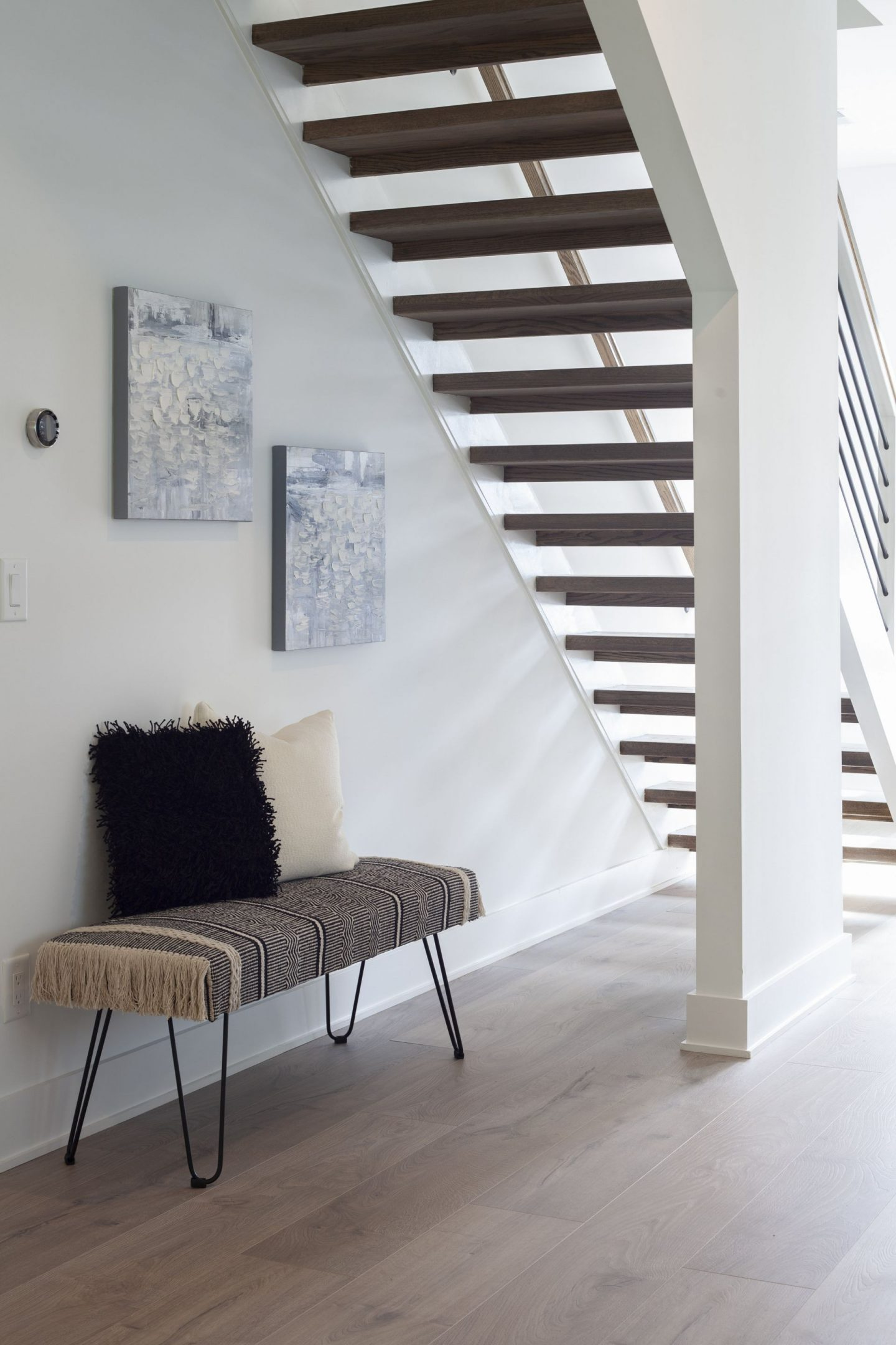 Floating Staircase - Modern Home - Kale Mills - Charlotte, NC