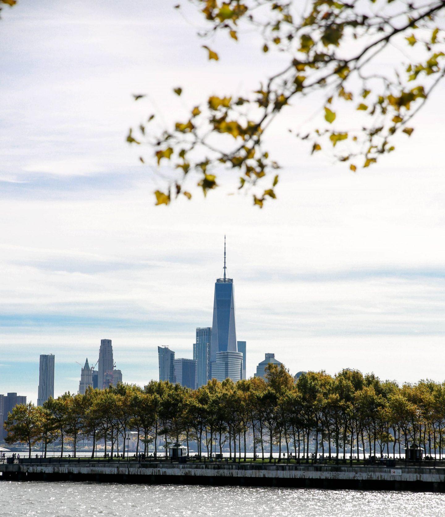 Freedom Tower - View from Hoboken Waterfront Walkway - Lauren Schwaiger Travel Blog