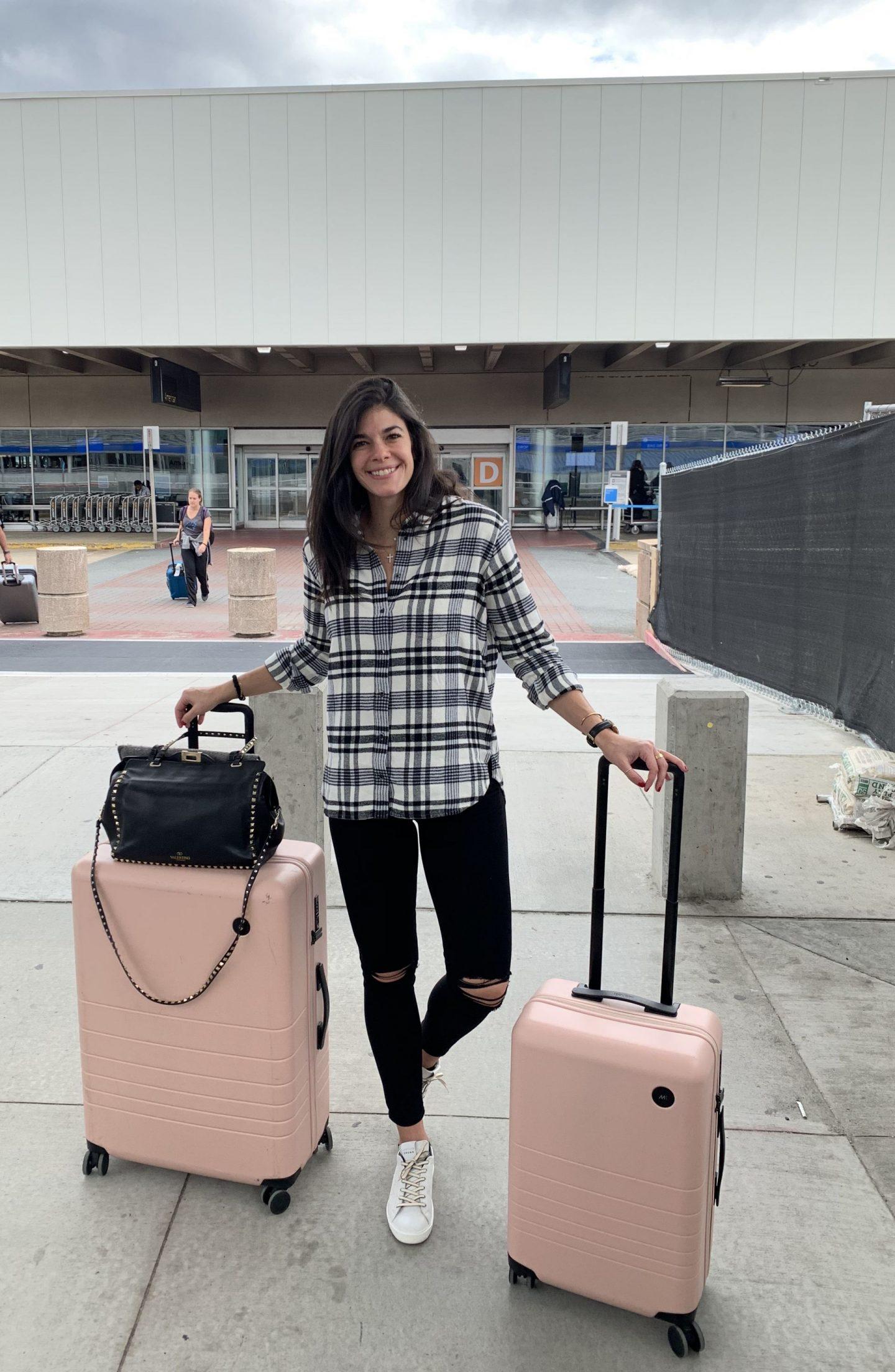 Monos Luggage - Airport Style - Lauren Schwaiger Style Blog