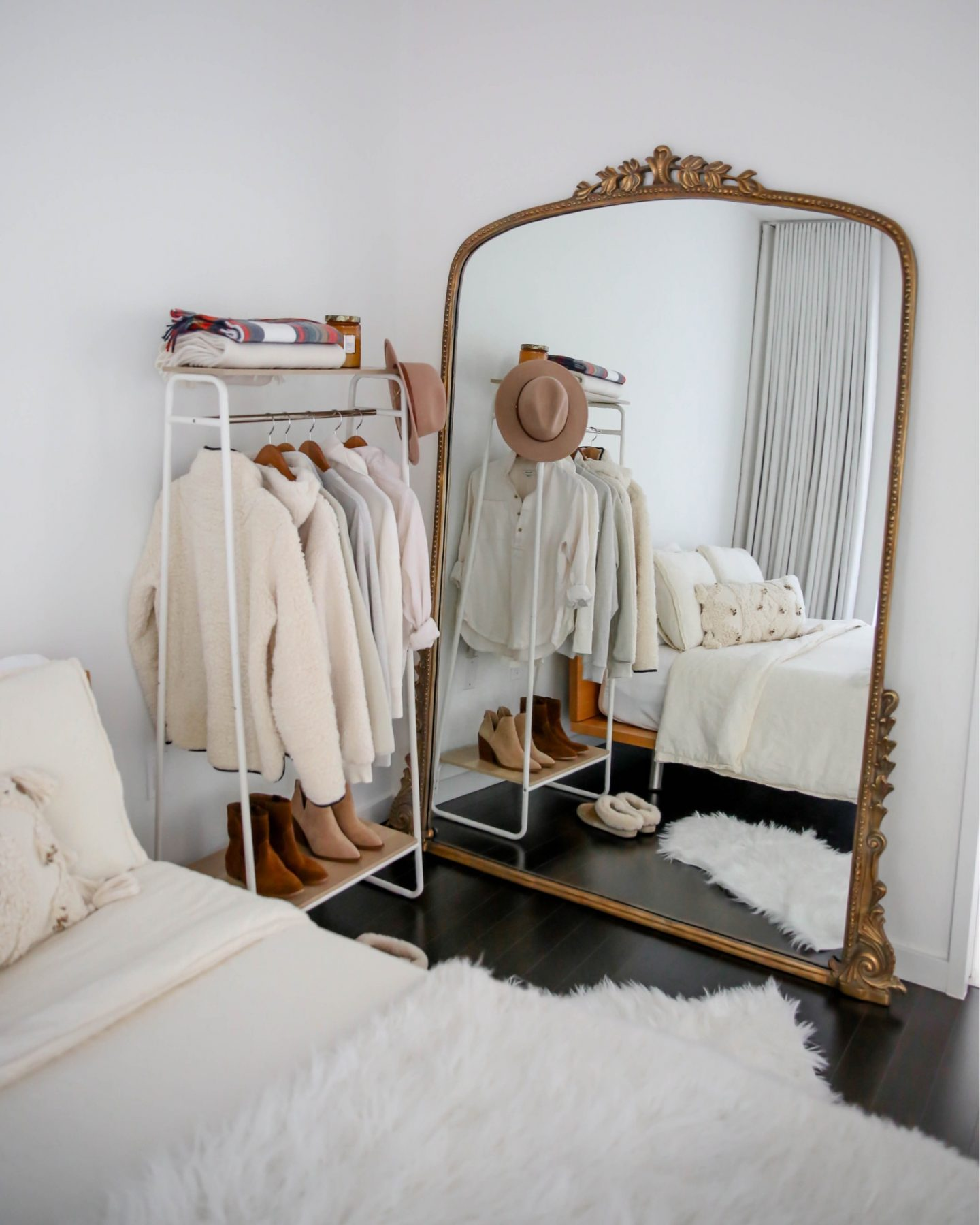 Neutral Home Decor - Anthropologie Gleaming Primrose Mirror - Lauren Schwaiger Lifestyle Blog