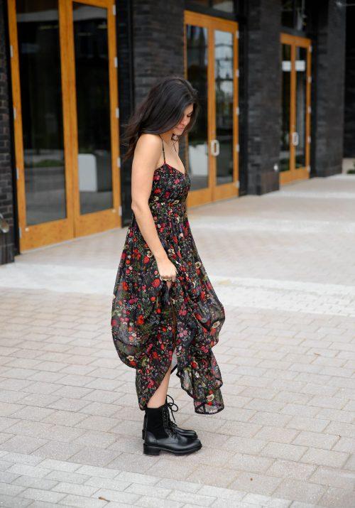 floral dress - aquatalia combat boots - Lauren Schwaiger Style Blog