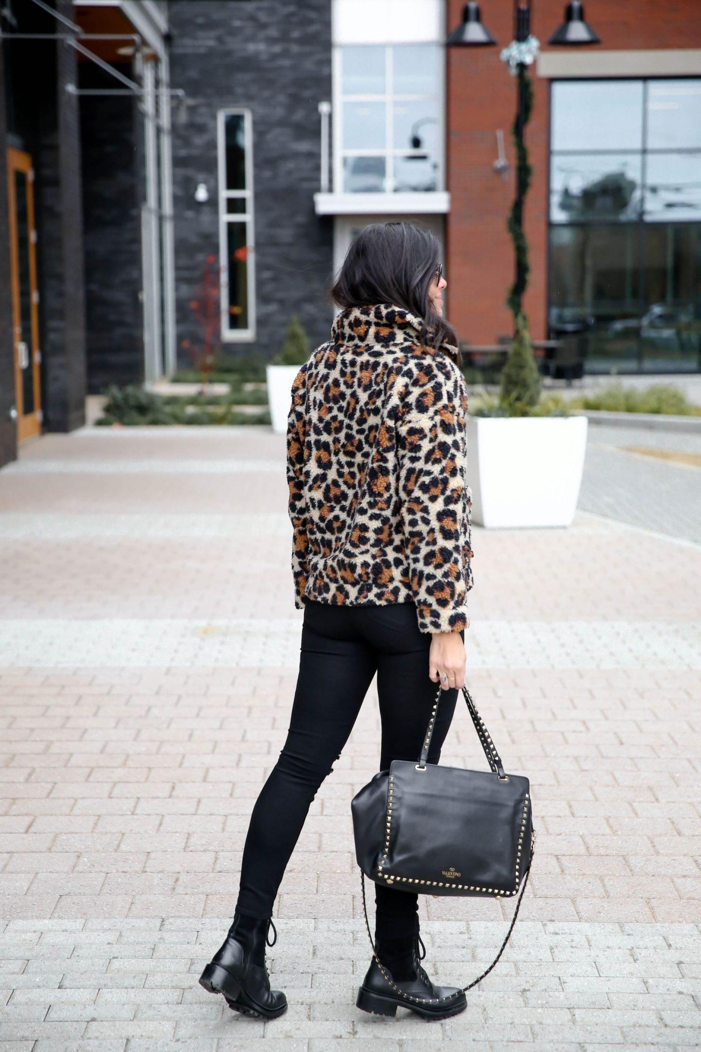 J.Crew Leopard Print Pullover - Winter Outfit - Lauren Schwaiger
