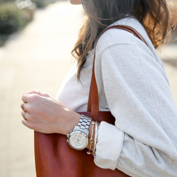 Michael Kors Silver Watch - Lauren Schwaiger Style Blog